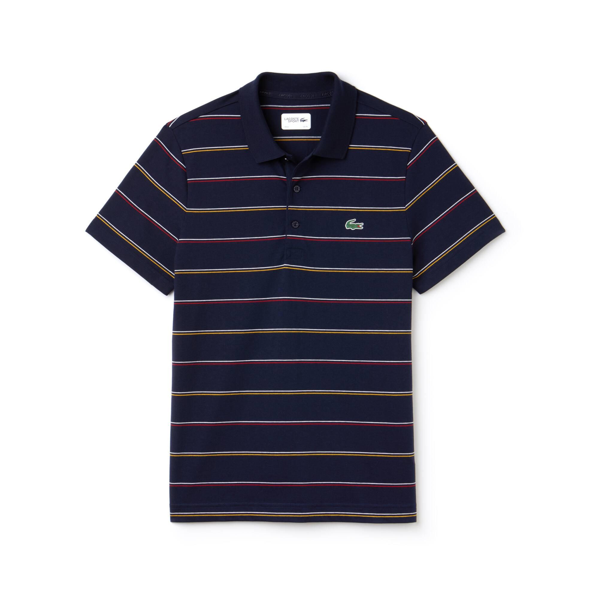 Polo Tennis Lacoste SPORT in jersey di cotone a righe