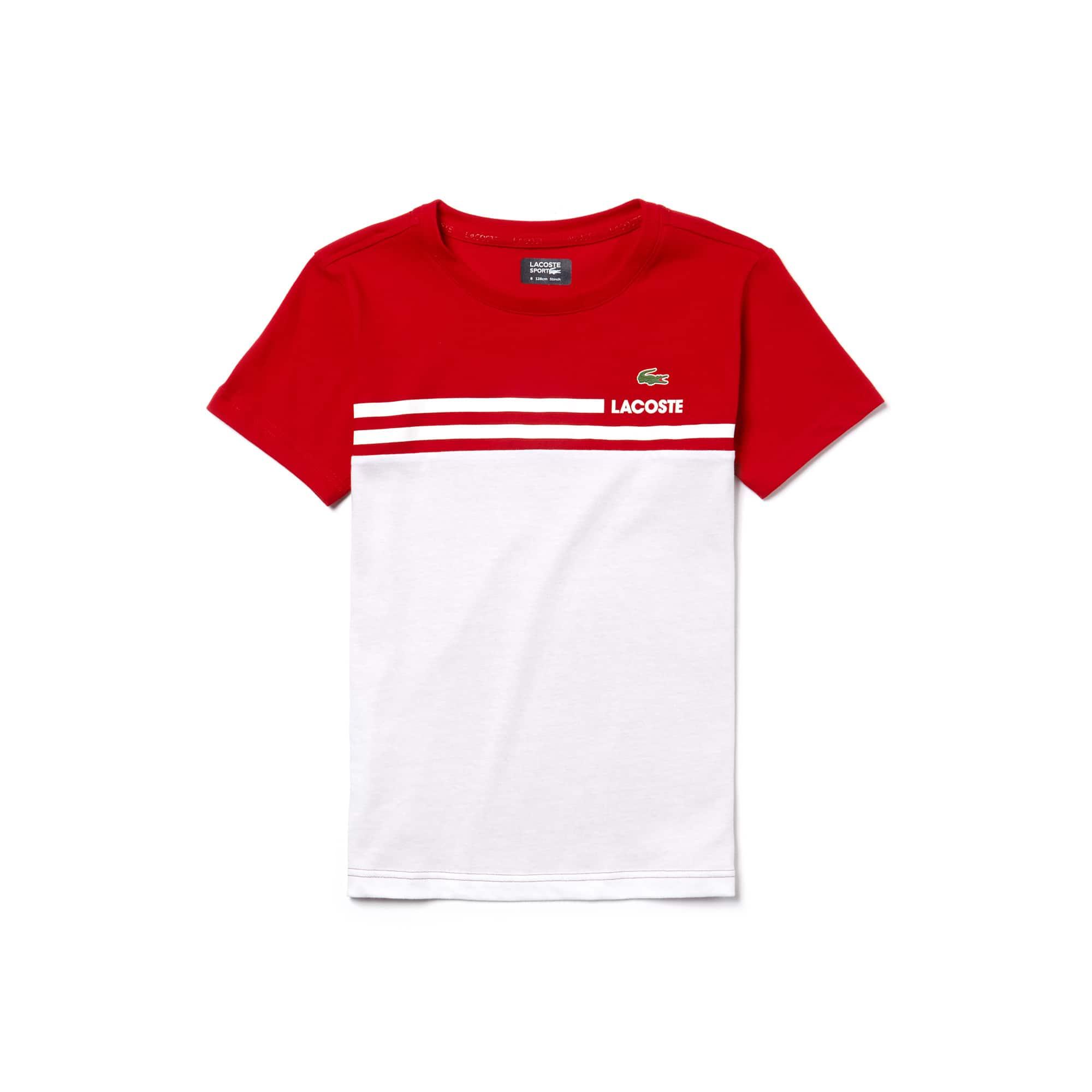 T-shirt Bambino Tennis Lacoste SPORT in jersey tecnico color block