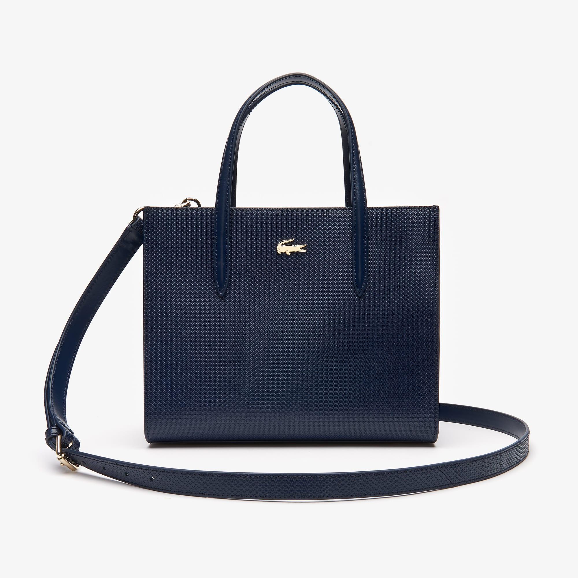 Shopping bag con cerniera in pelle piqué con doppia modalità di utilizzo Chantaco da donna