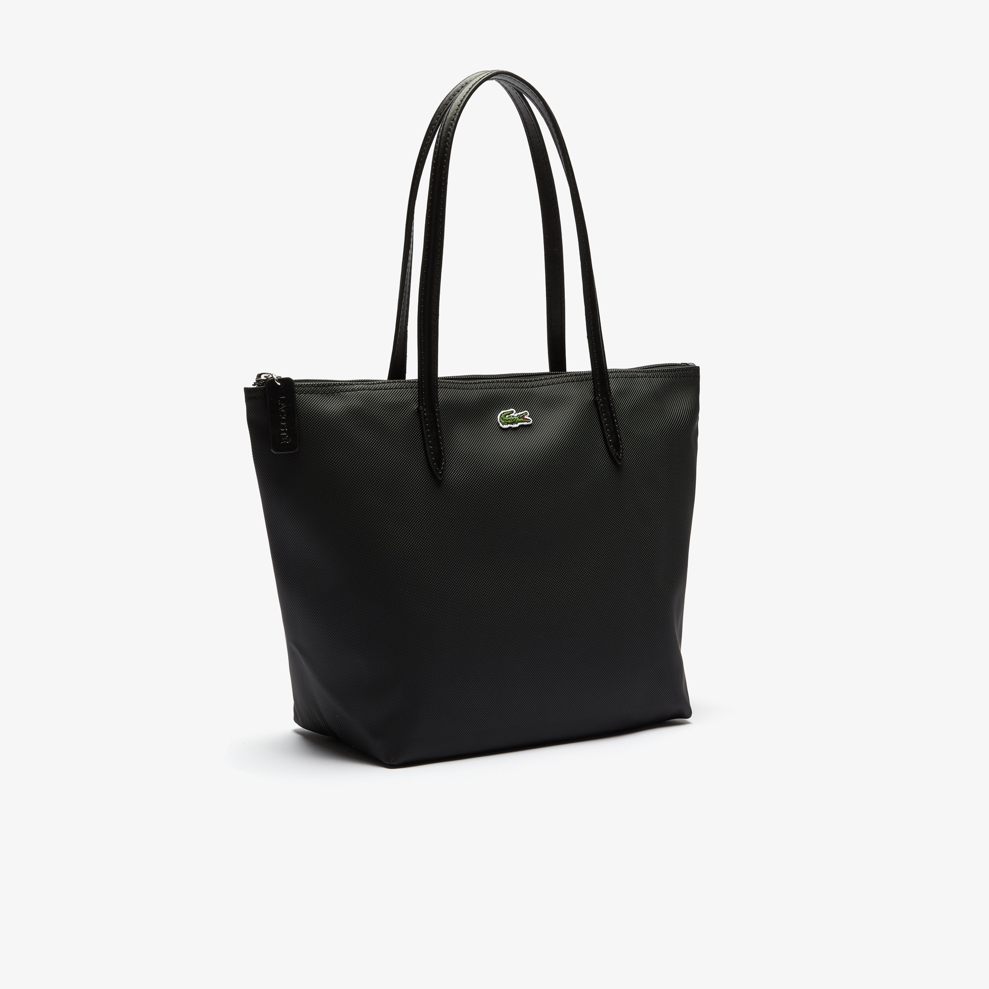 Shopping bag piccola con zip L.12.12 Concept tinta unita