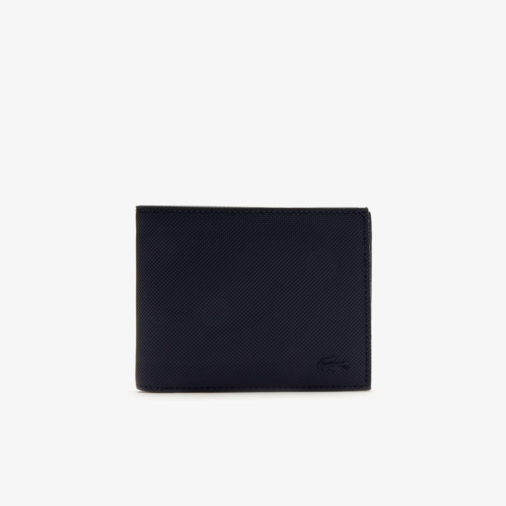 Classic-portemonnee heren petit piqué met zes vakjes