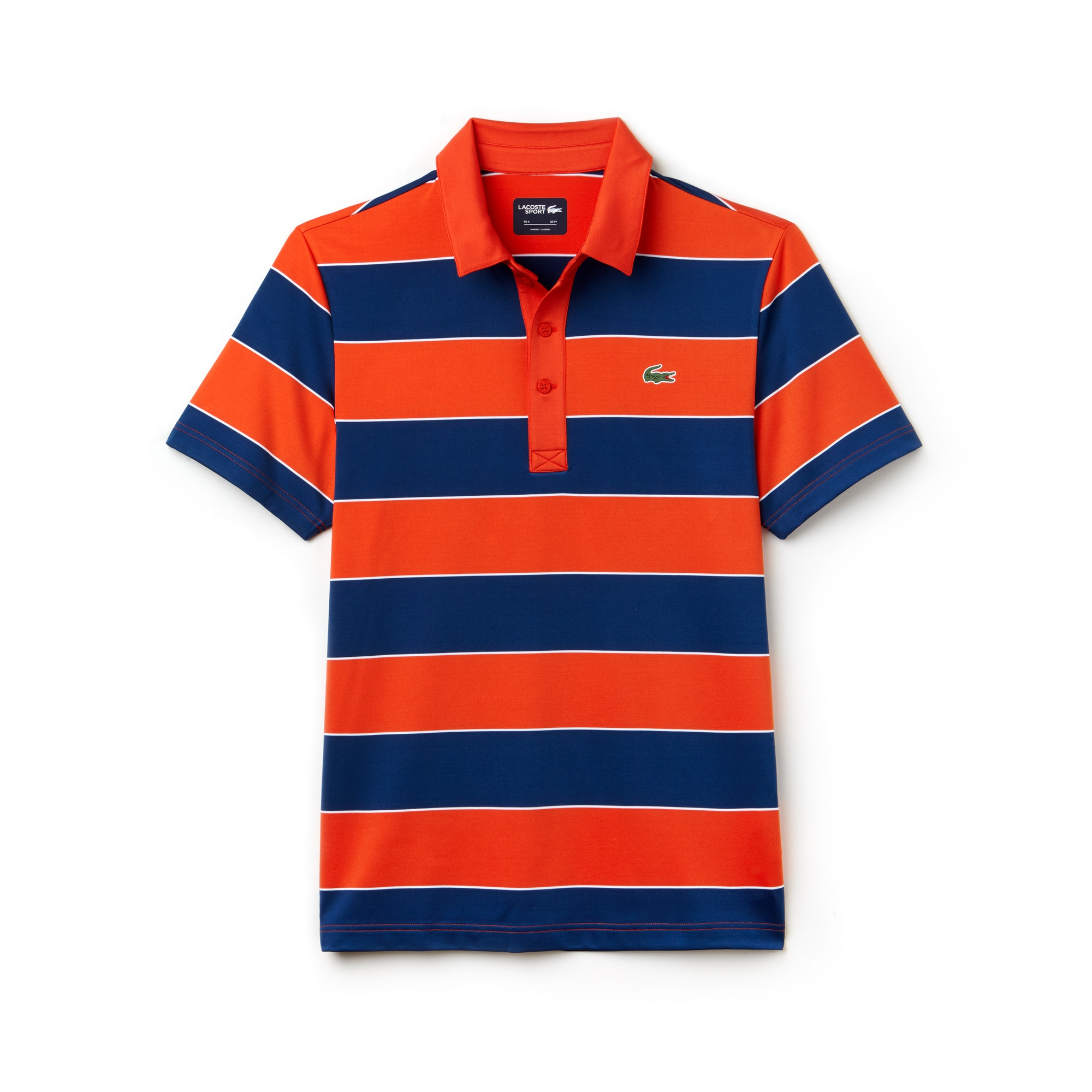 Lacoste SPORT Golf-polo heren gestreept jersey met stretch