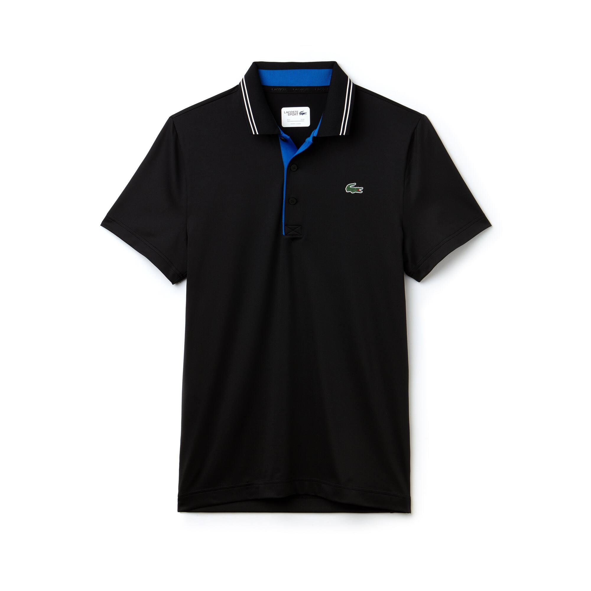 Lacoste SPORT Golf-polo heren gestreept technische jersey met stretch en belettering