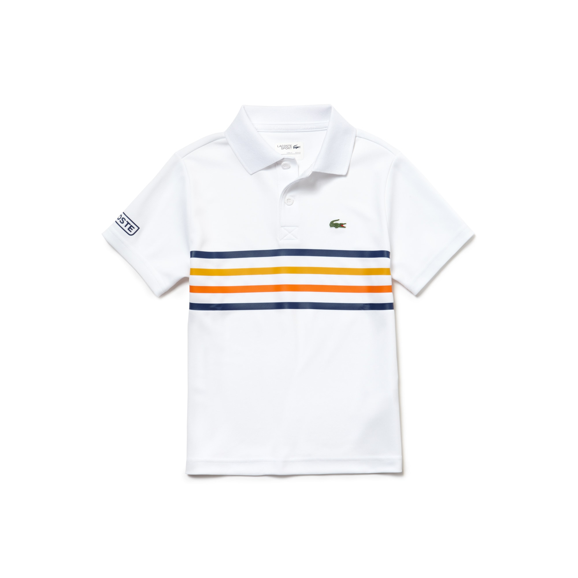 Lacoste SPORT Tennis-polo jongens technisch piqué met gekleurde strepen