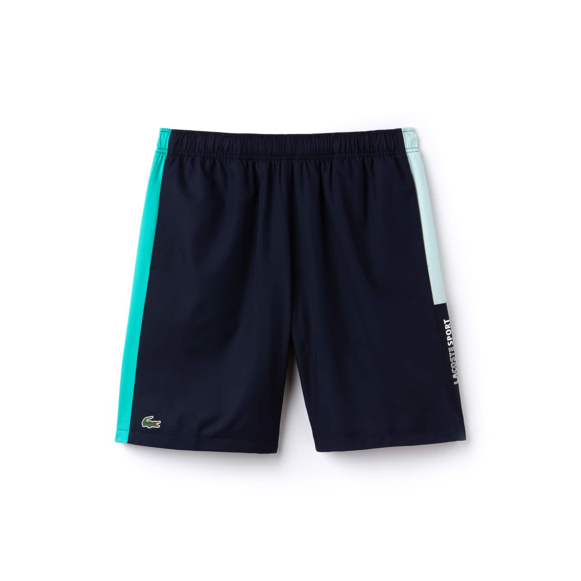 Lacoste SPORT Tennis-short heren taf met gekleurde strepen