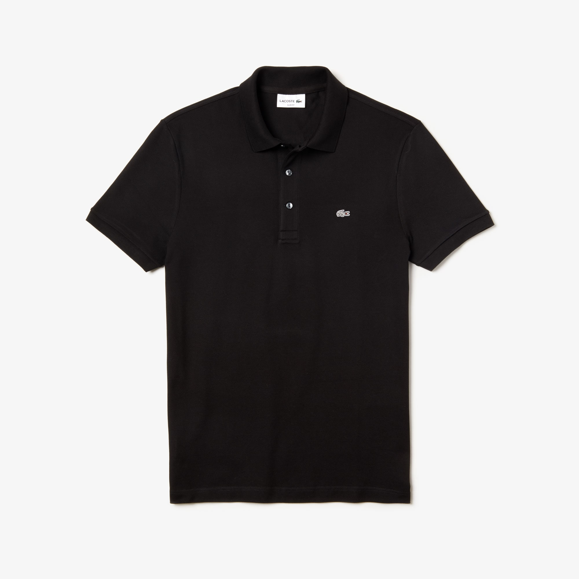 Lacoste slim fit polo van effen stretch petit piqué