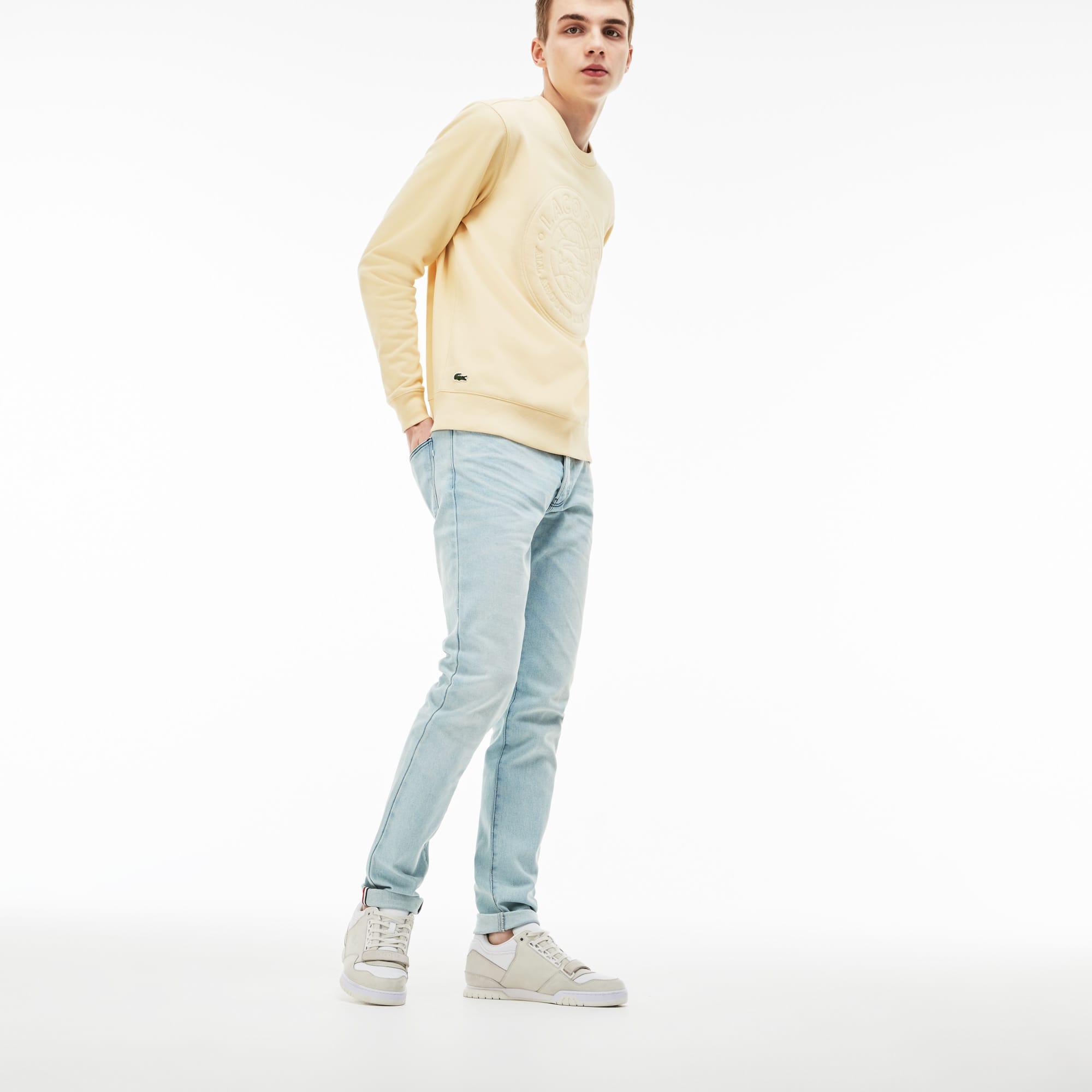 Lacoste LIVE-jeans heren stretch-denim met 5 zakken en omgevouwen rand