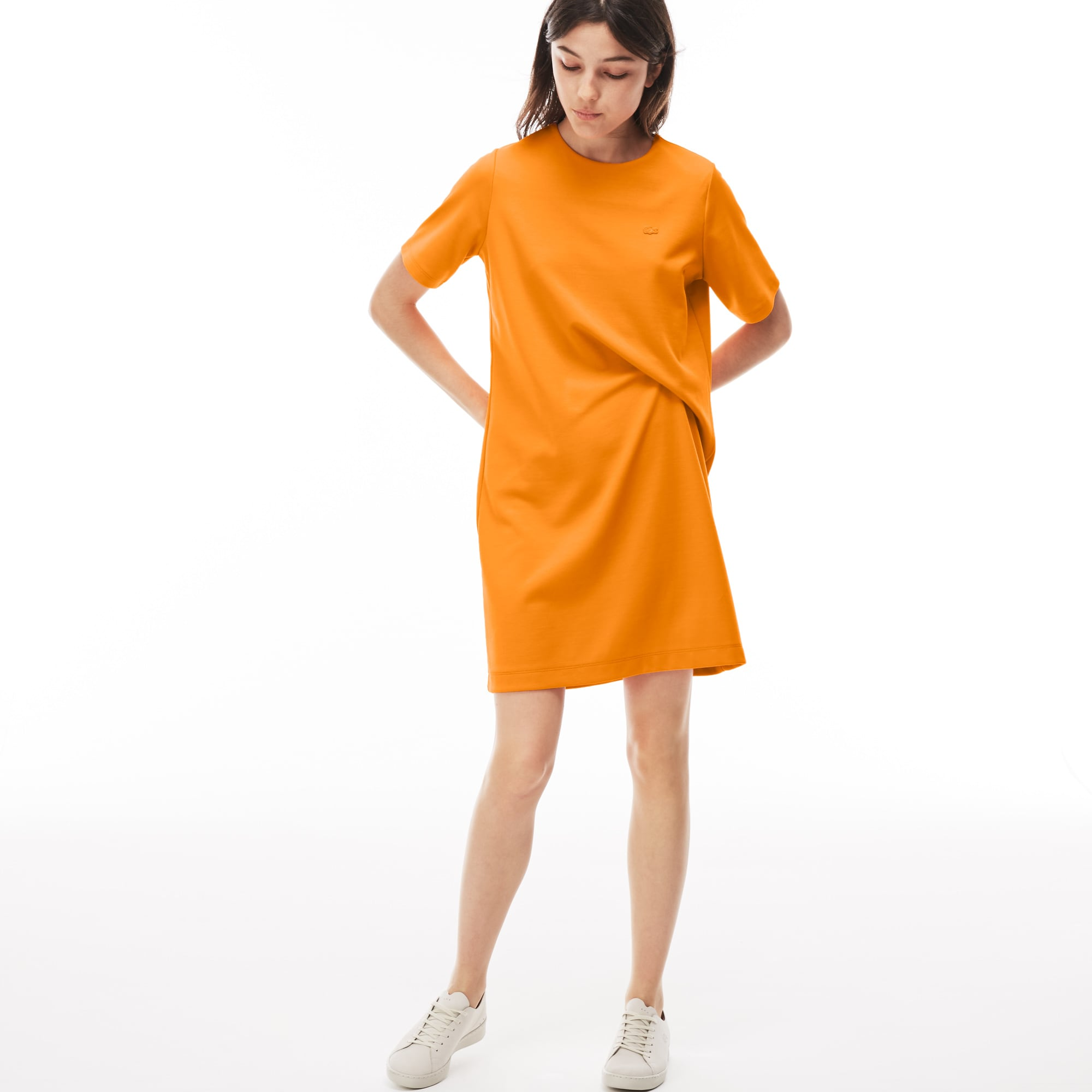 Lacoste LIVE-jurk dames katoenjersey asymmetrisch