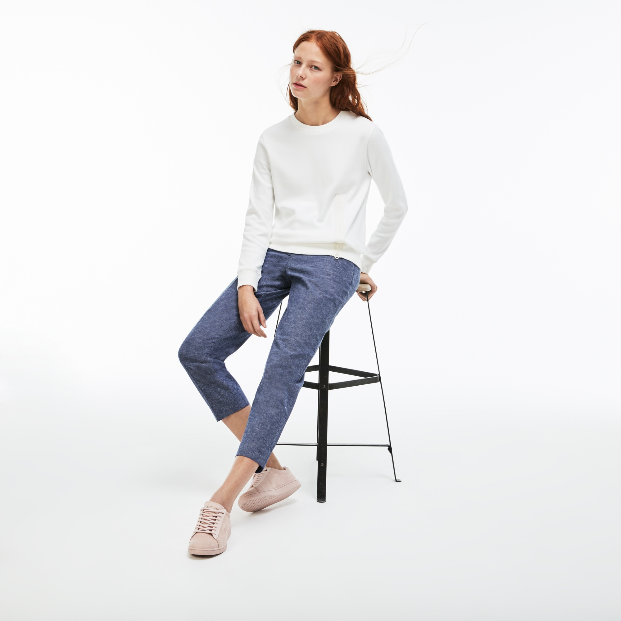 Lacoste LIVE-plooibroek dames chambray