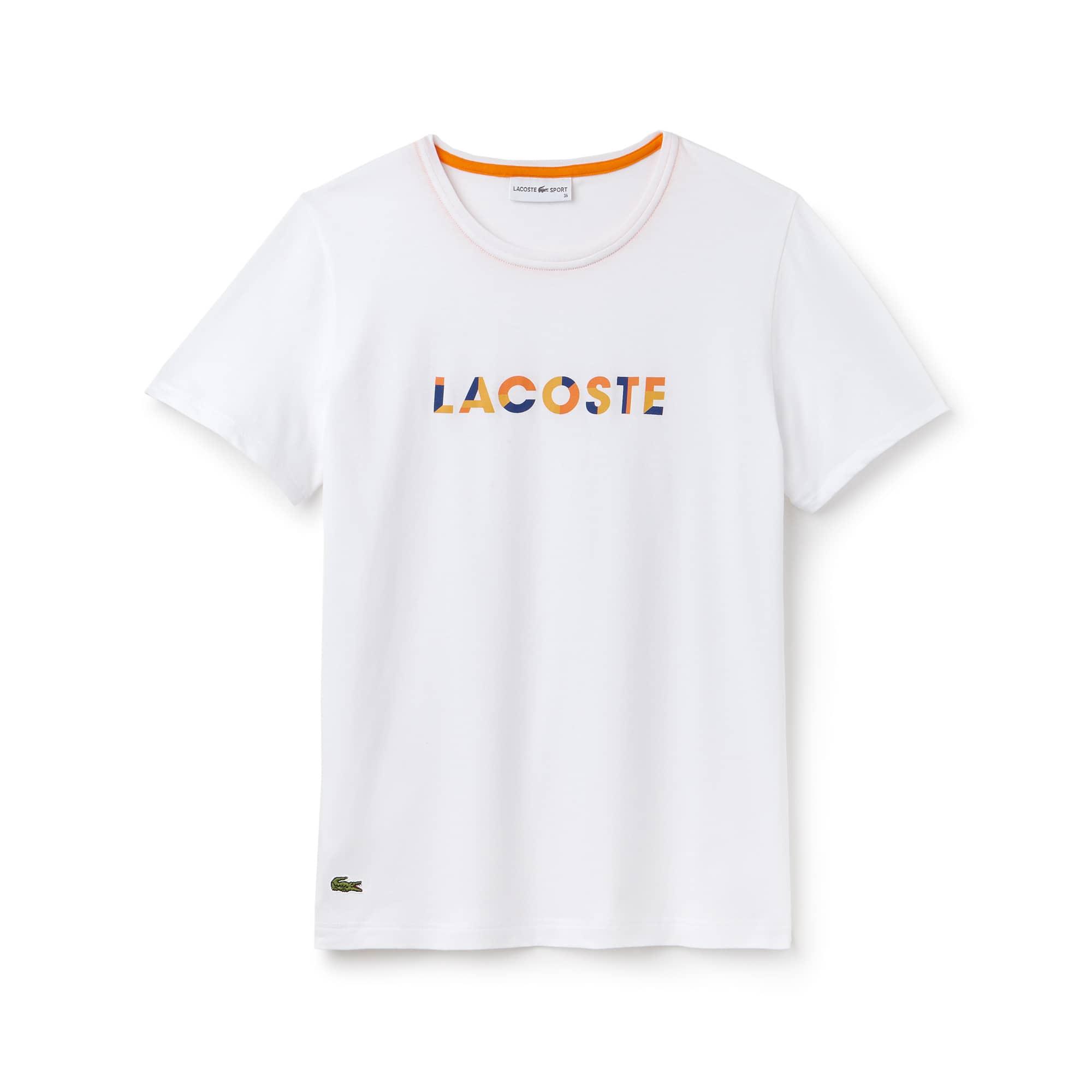 Lacoste SPORT Tennis-T-shirt dames jersey met ronde hals en logo
