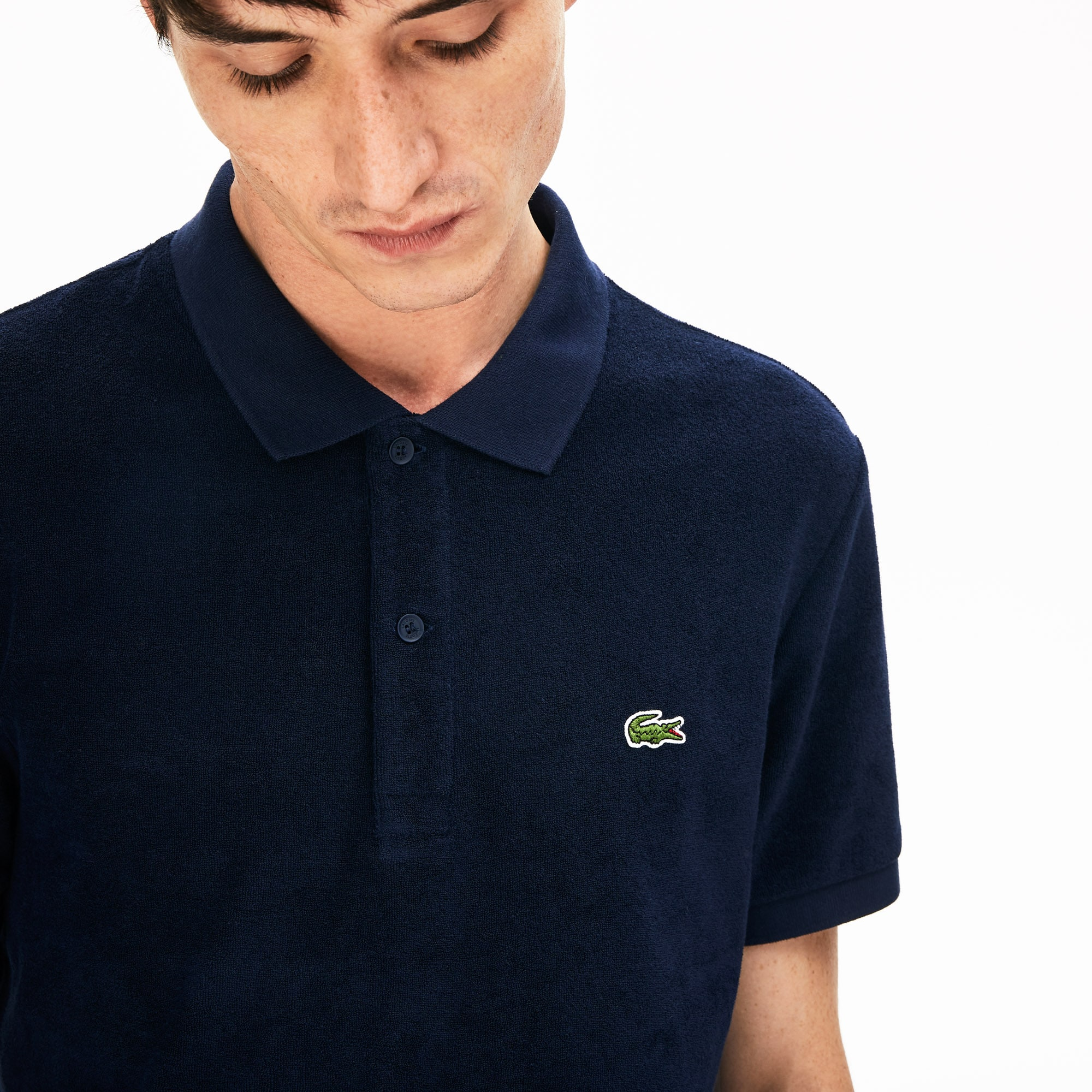 Lacoste polo heren katoenfleece regular fit