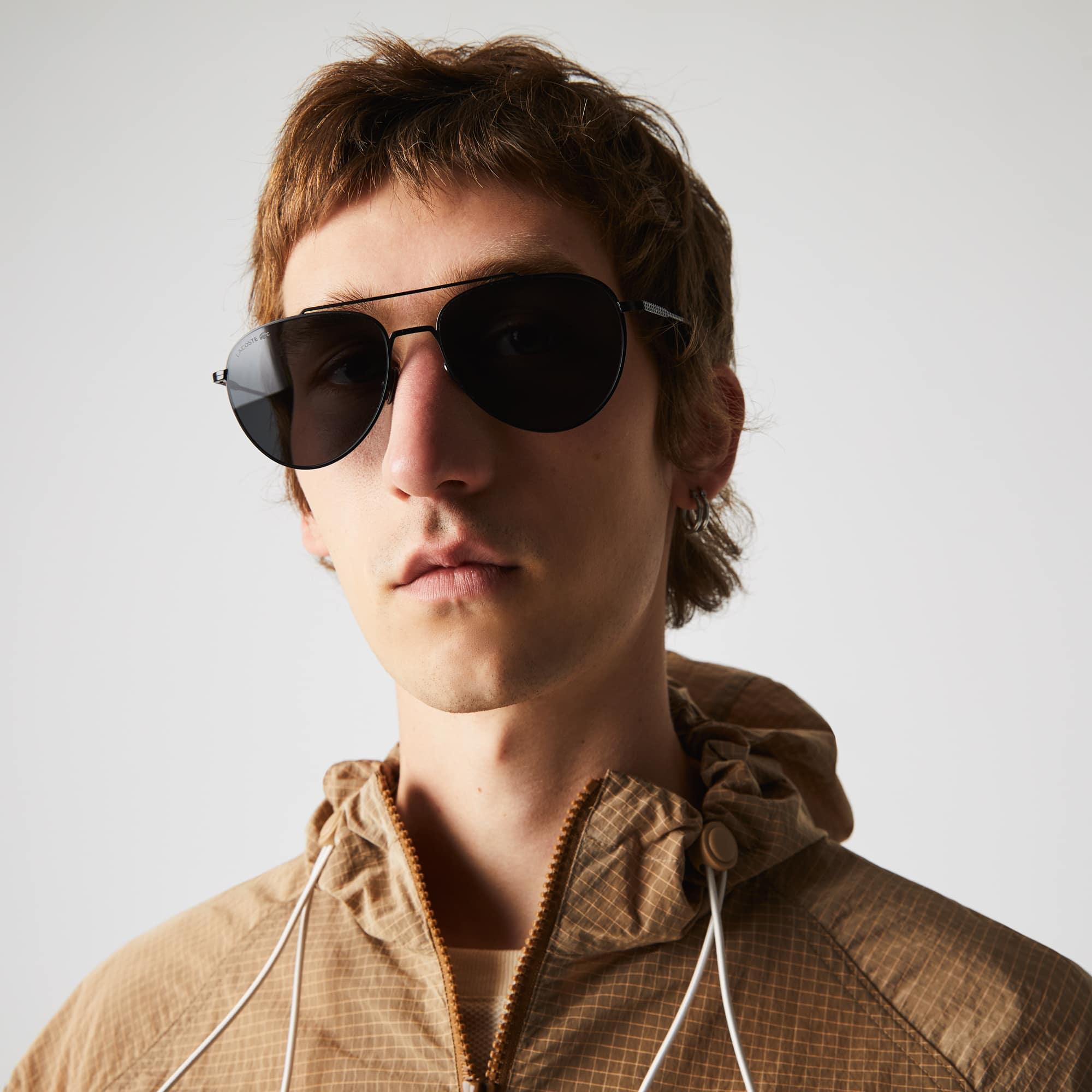 Petit piqué-zonnebril unisex met metalen montuur