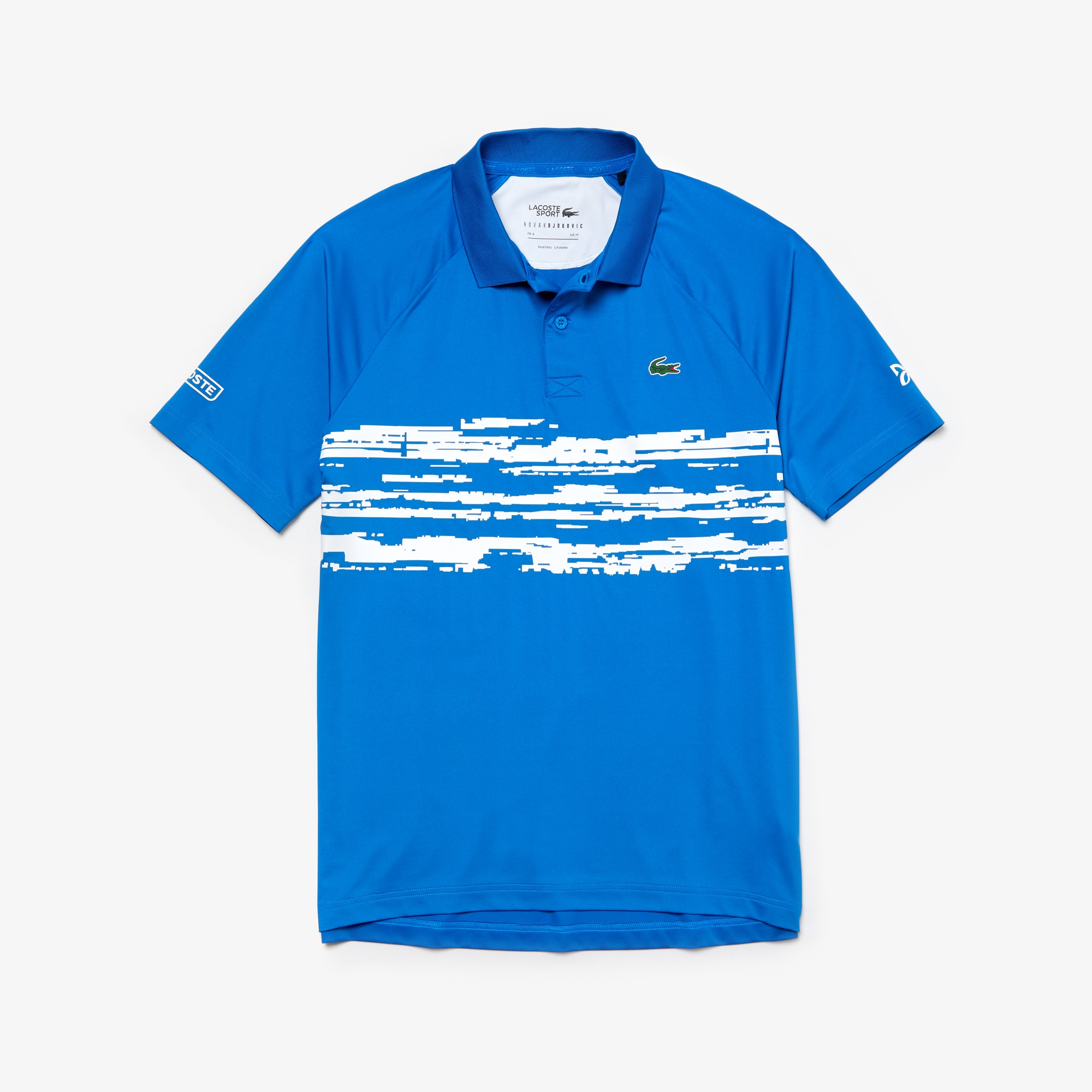 Lacoste SPORT x Novak Djokovic Collection poloshirt heren jersey met print en stretch