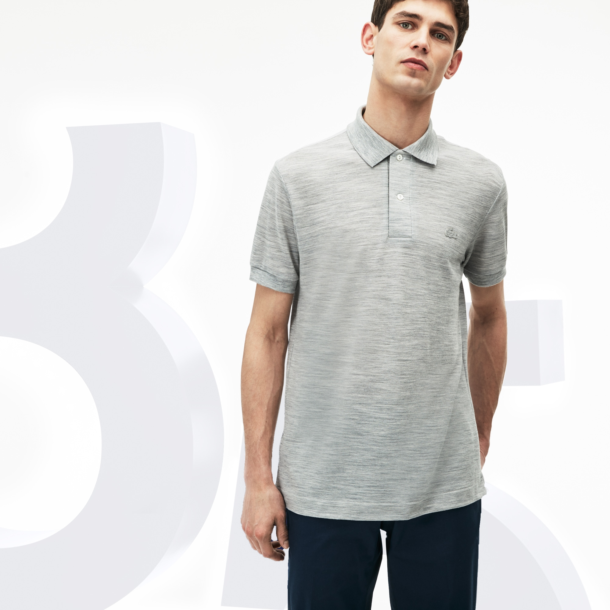 Limited Edition 85 Ans Lacoste L.12.12 polo heren wolpiqué