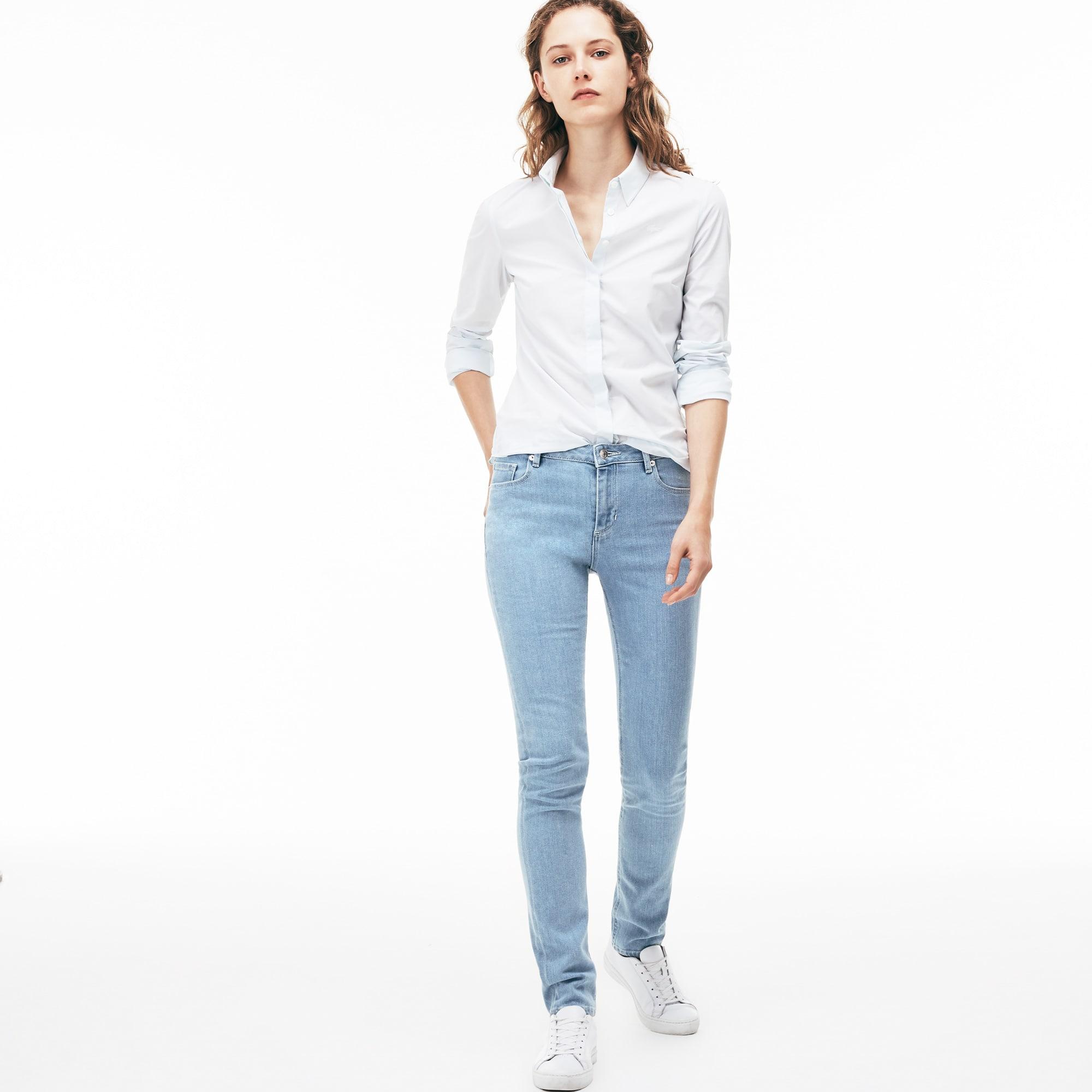 Jeans van stretch katoen met nauwsluitende pasvorm