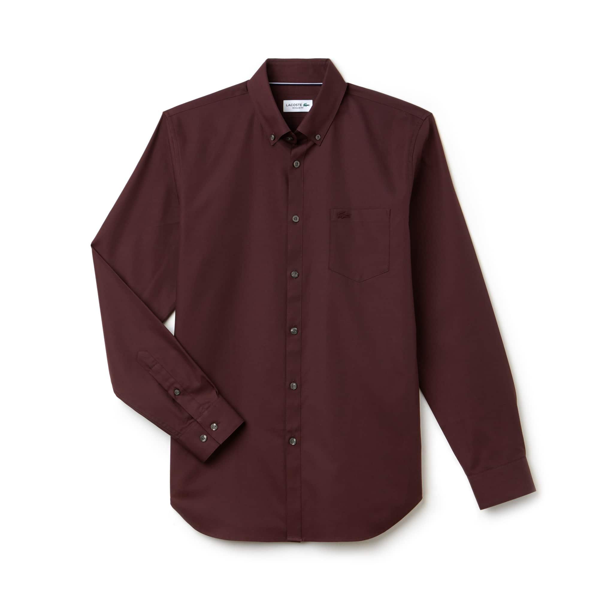 Shirt Heren Regular Fit Mini-katoenpiqué