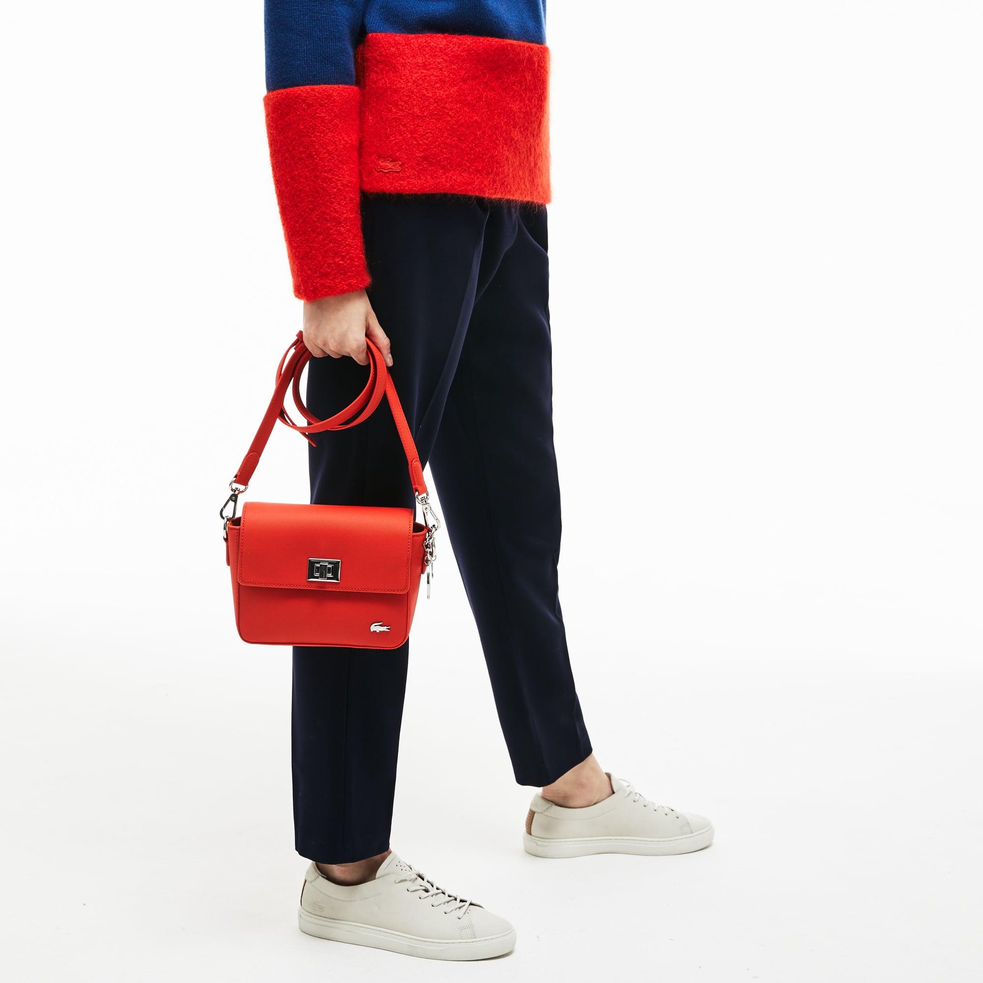Daily Classic-schoudertas dames gecoat piqué-canvas met klep