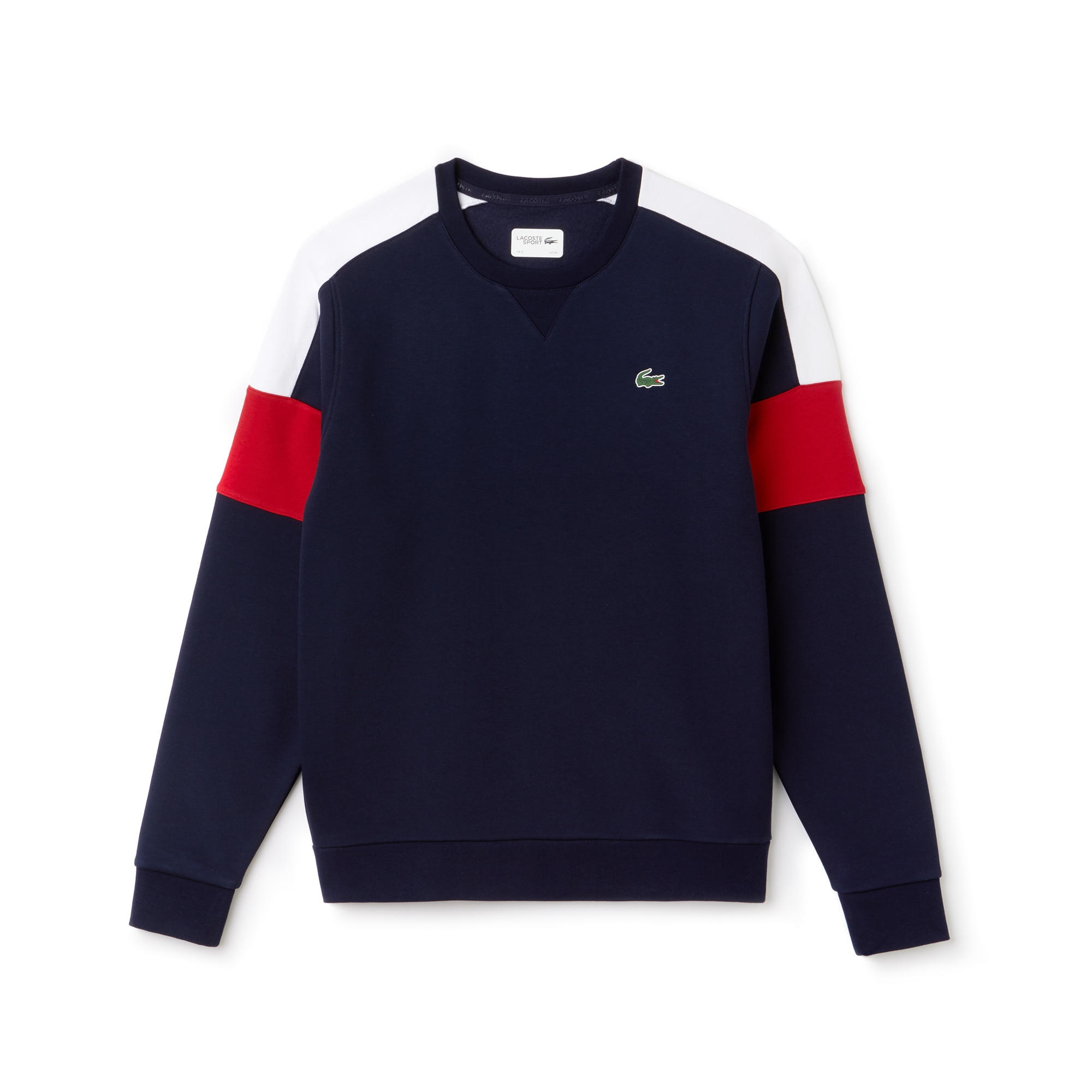 Lacoste SPORT Tennis-sweatshirt heren fleece met colorblock