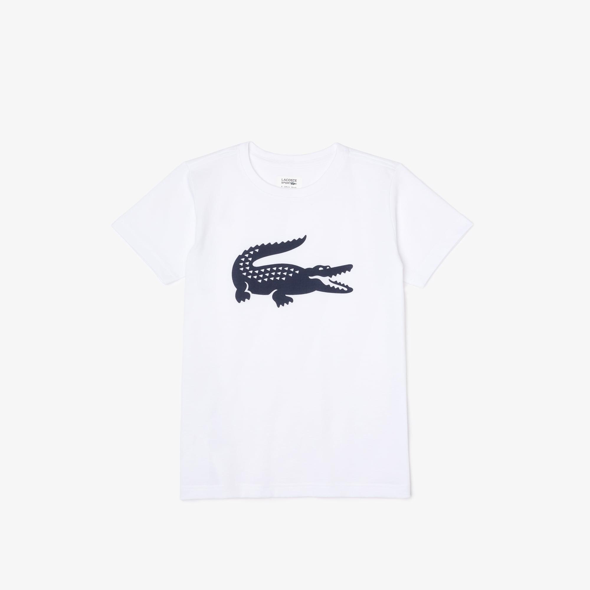 Tennis Lacoste SPORT T-shirt voor jongens van technisch jersey met oversized krokodil