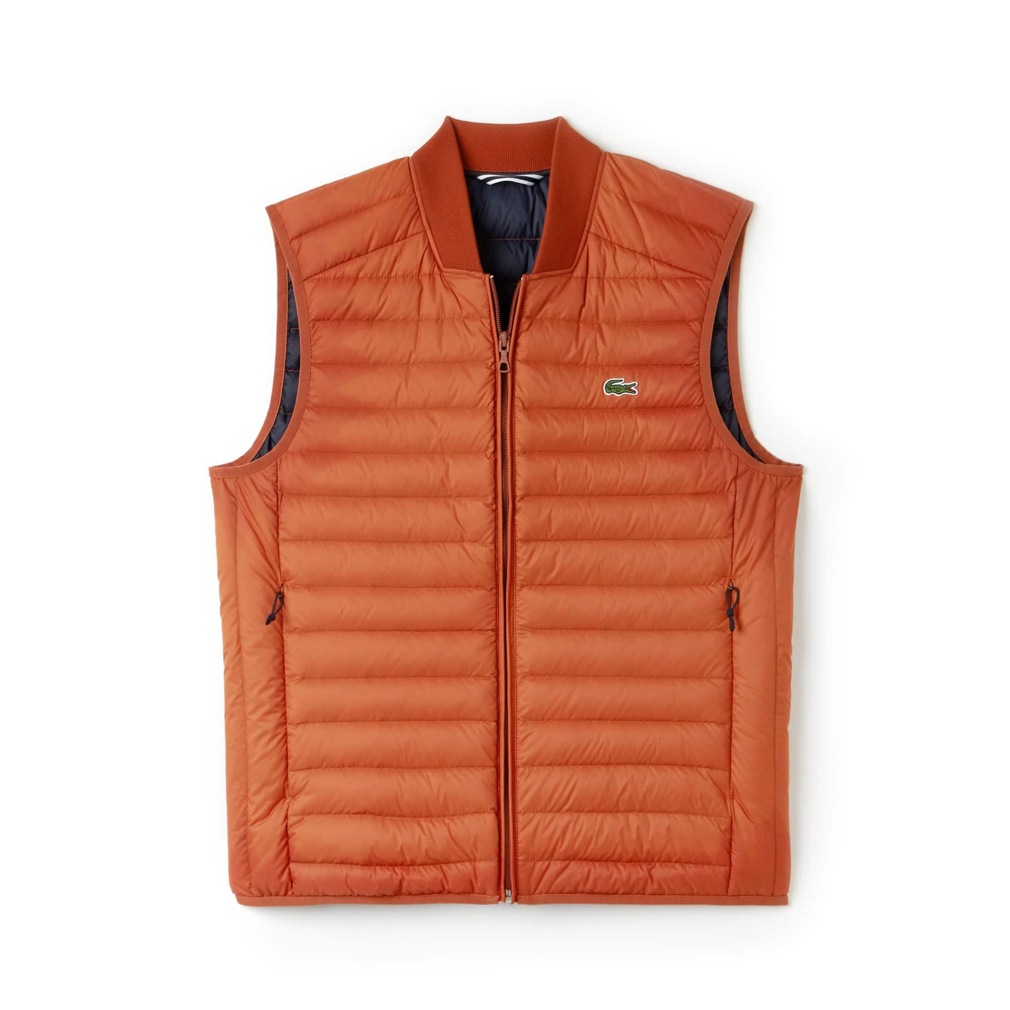 Vest heren kort gewatteerd met contrasterende voering