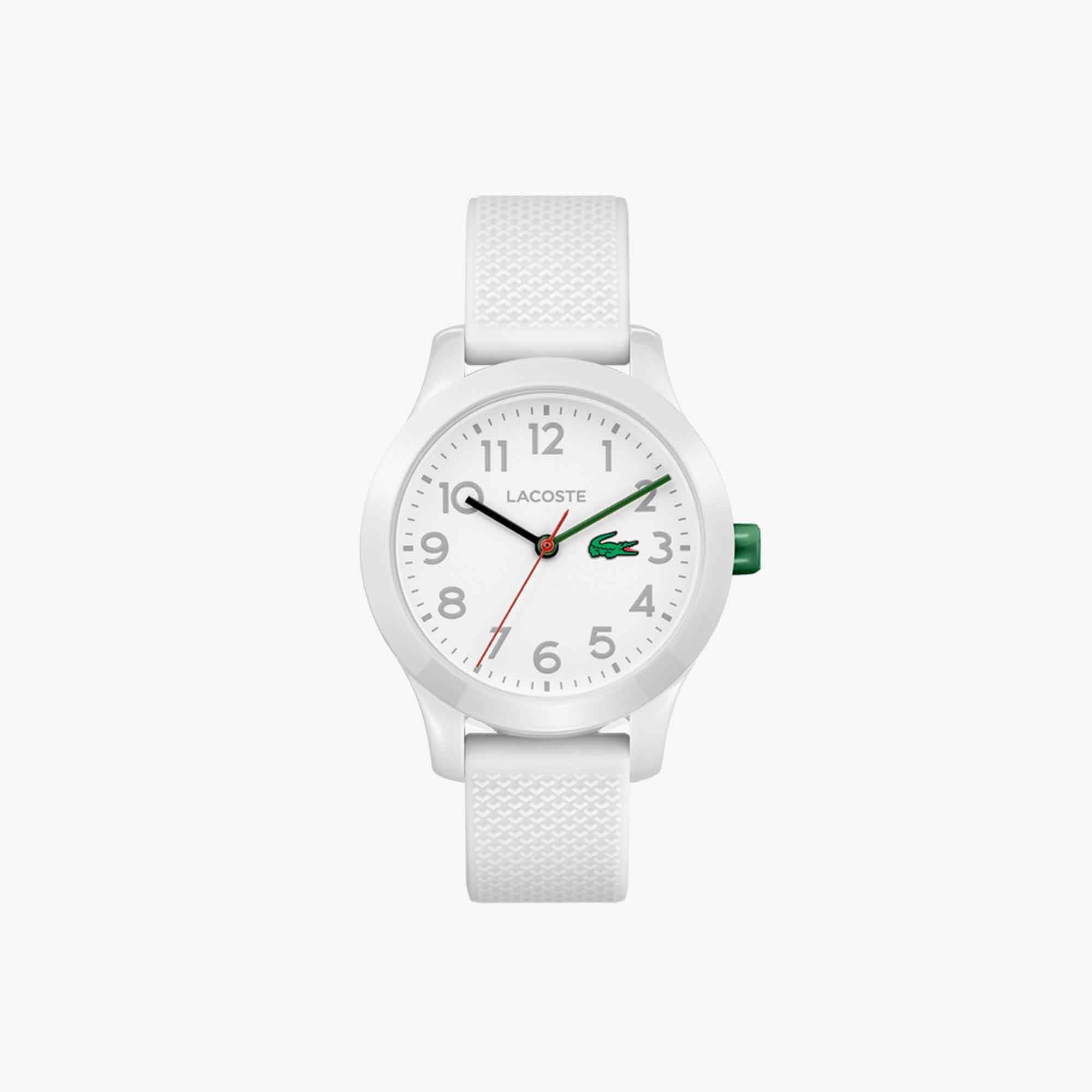 Kinderen Lacoste 12.12 Horloge met Witten Siliconen Armband