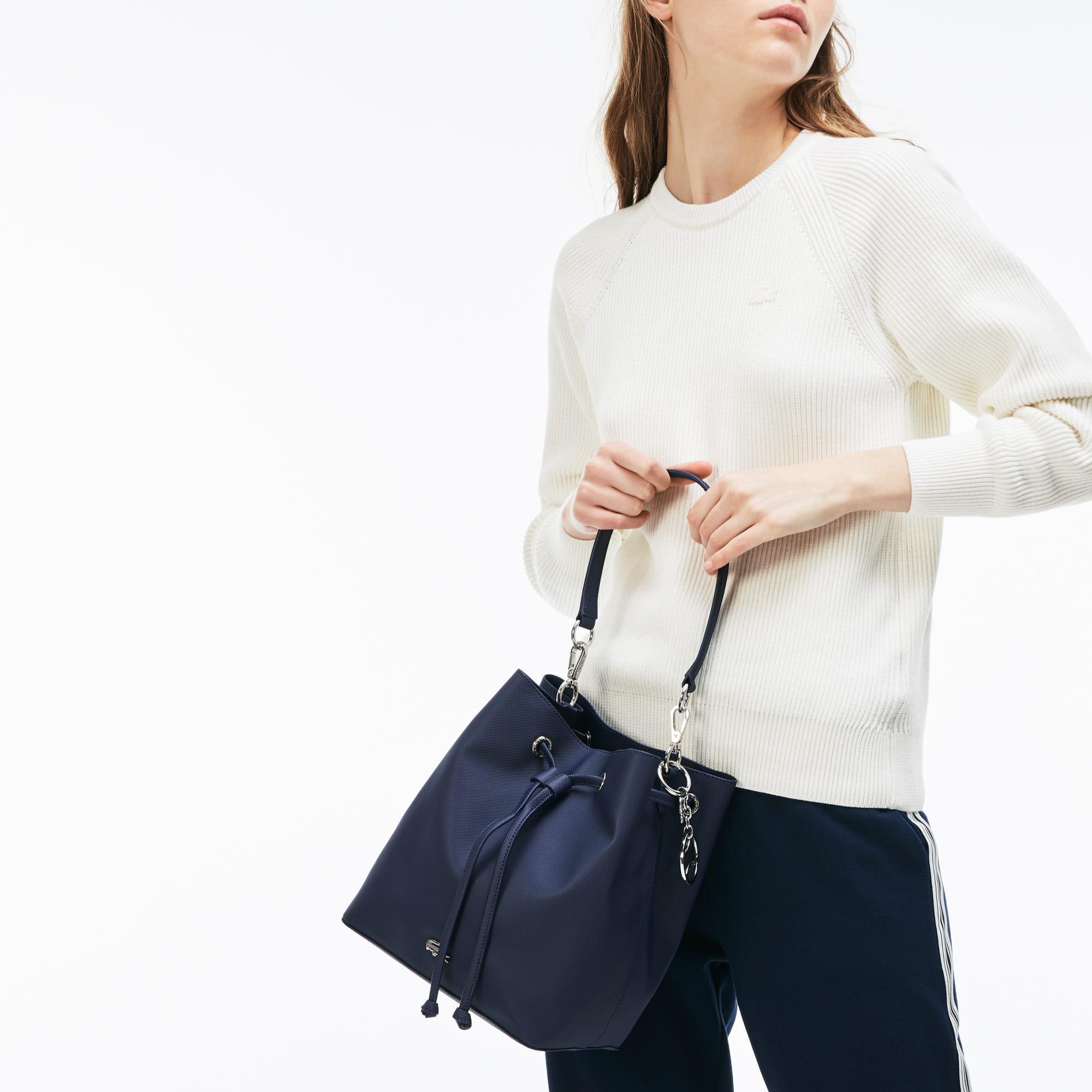 Women's Daily Classic bucketbag van gecoat piqué canvas