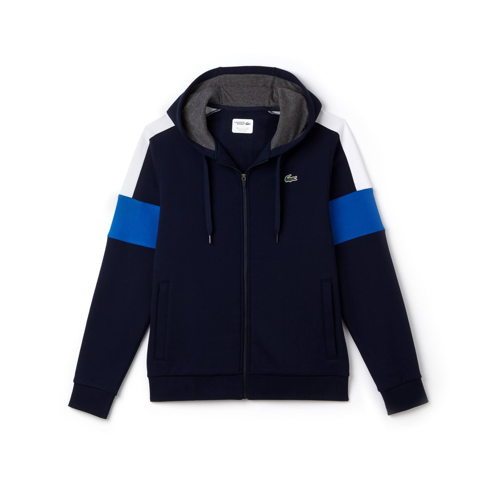 Lacoste SPORT Tennis-sweatshirt heren fleece met rits en colorblock