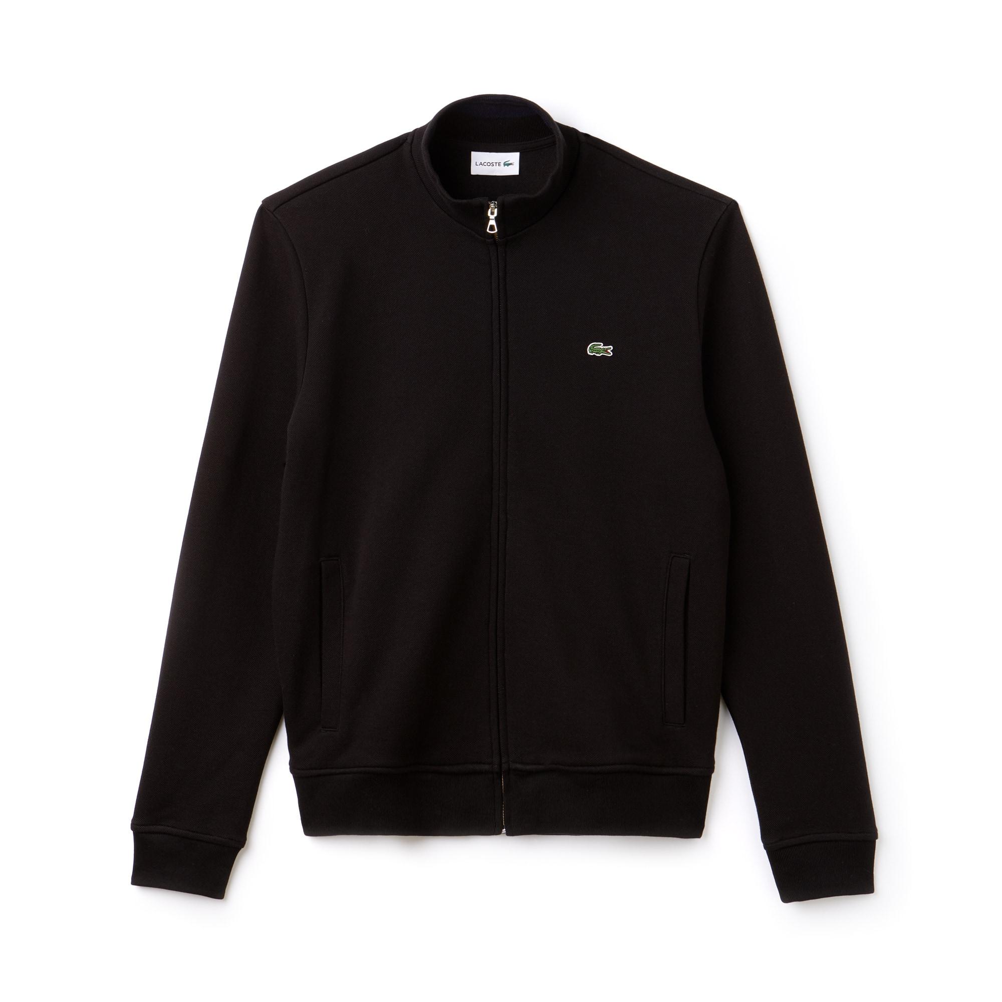 Sweatshirt Heren Opstaande Kraag Fleece met Rits