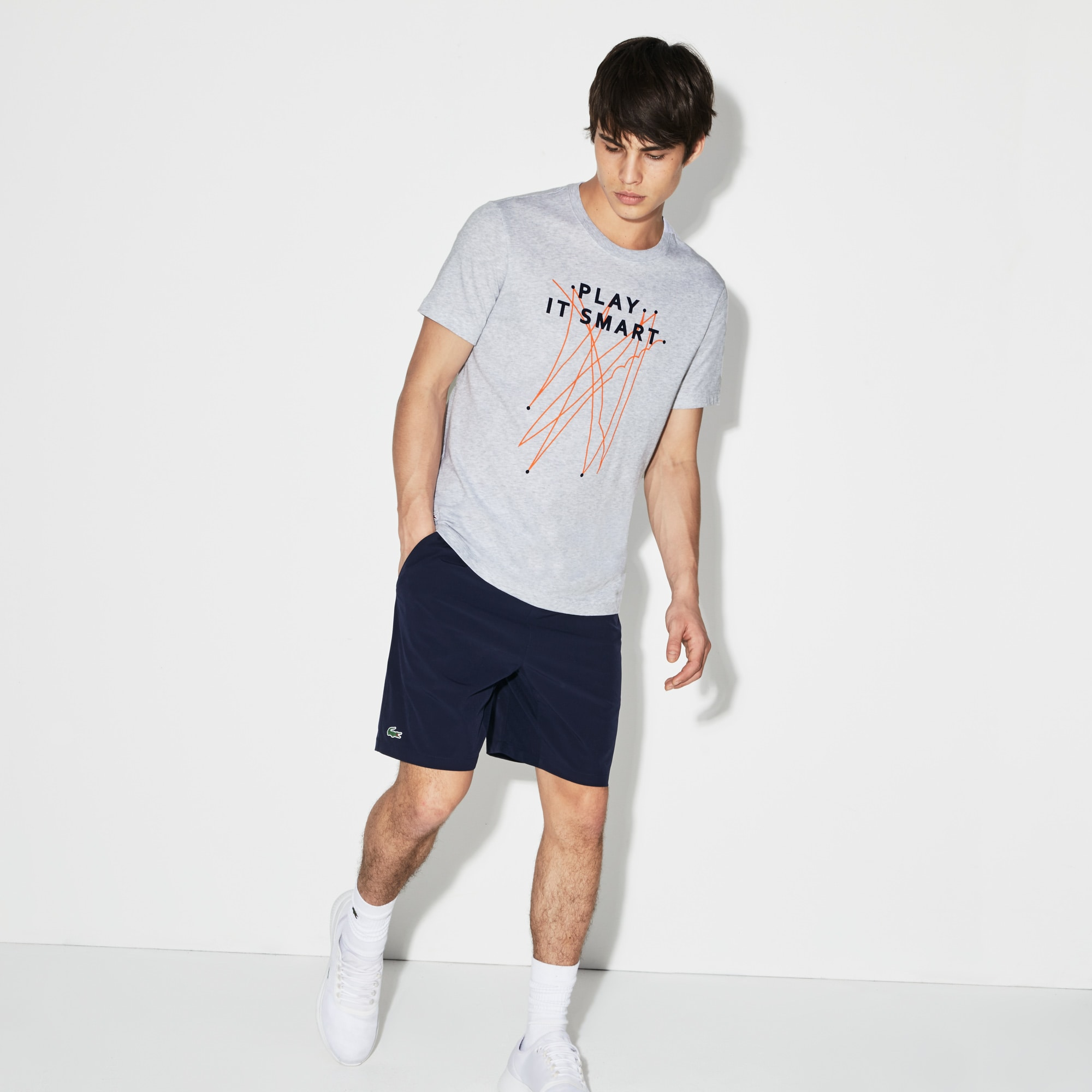 Lacoste SPORT T-shirt van jersey met Édition Roland Garros-print