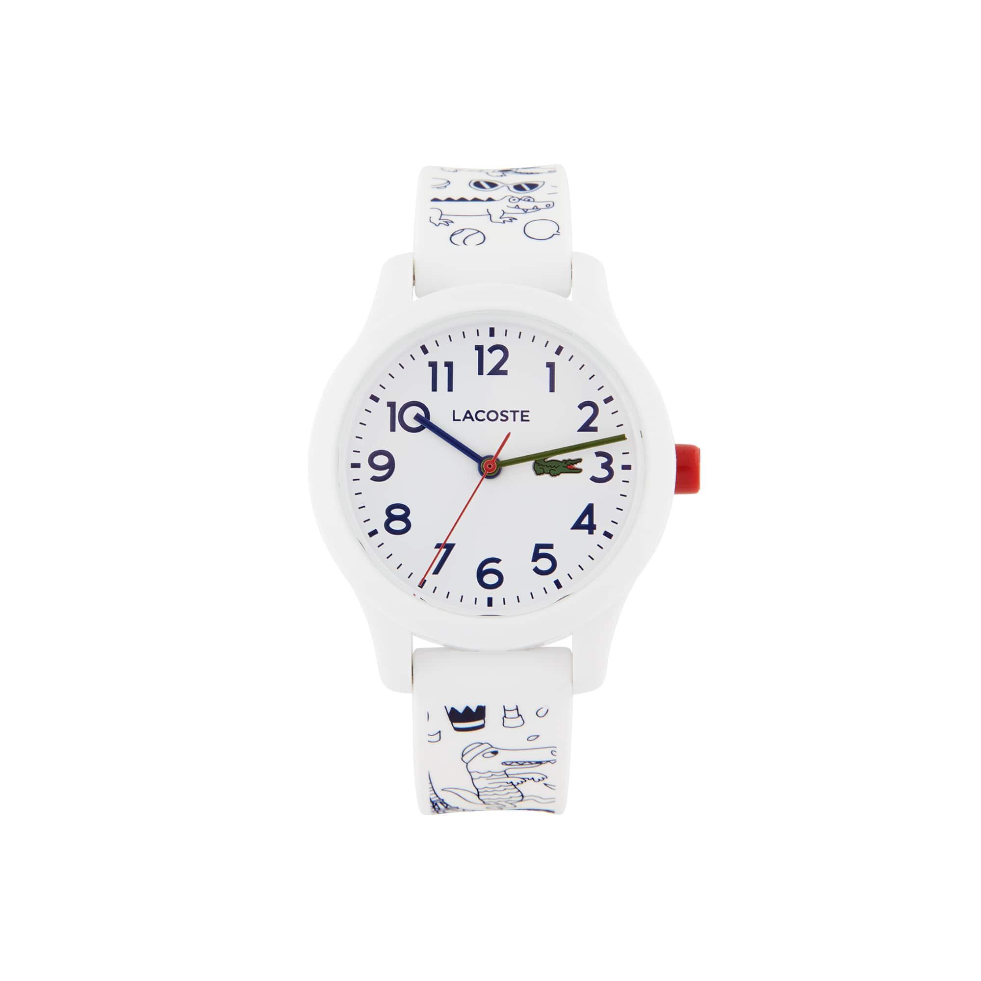 Kinderen Lacoste 12.12 OMY Gelimiteerde Editie Horloge met Witten Siliconen Armband