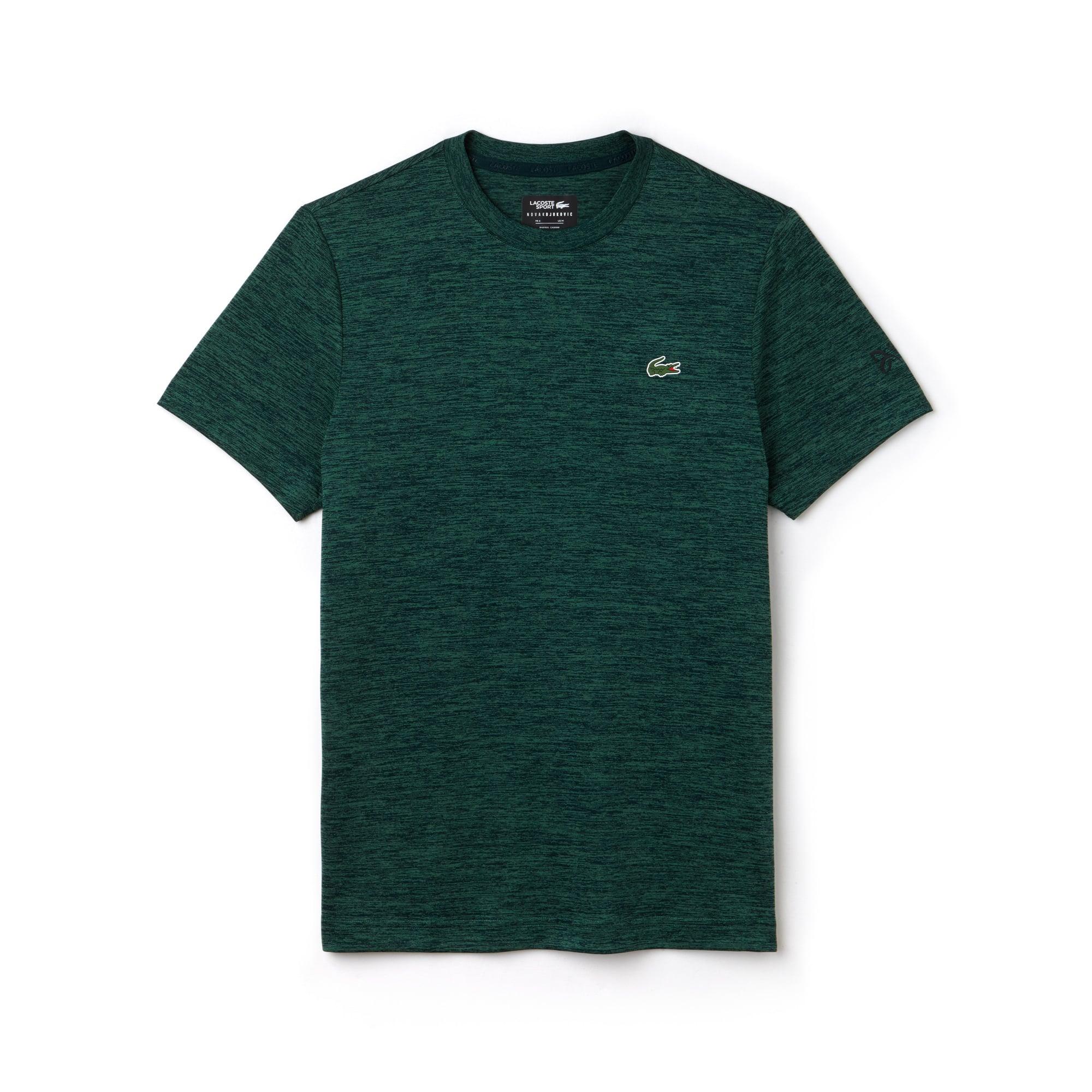 Lacoste SPORT Tennis-T-shirt Heren Technische Jersey en Mesh met Ronde Hals