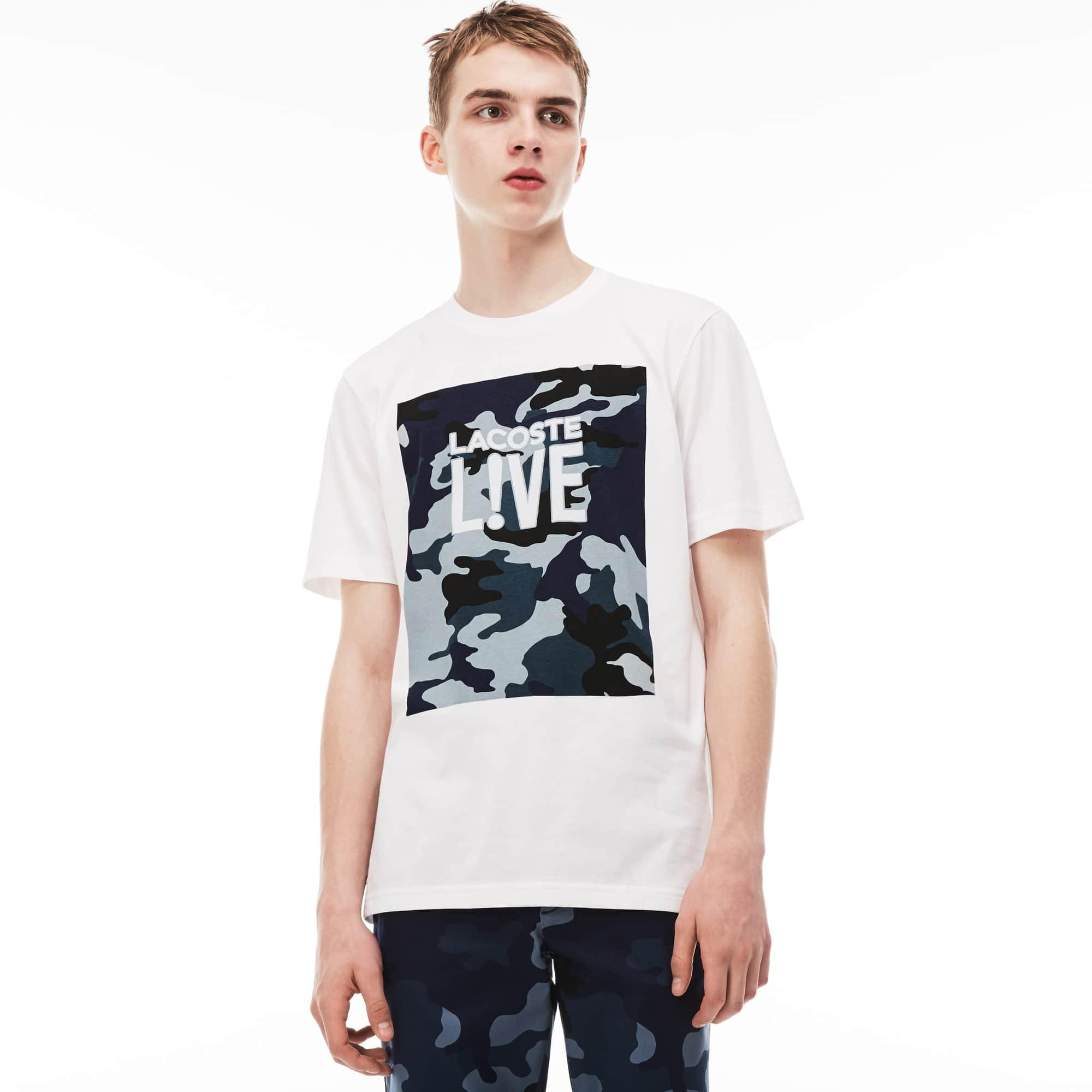 Lacoste LIVE-T-shirt heren ronde hals jersey met print