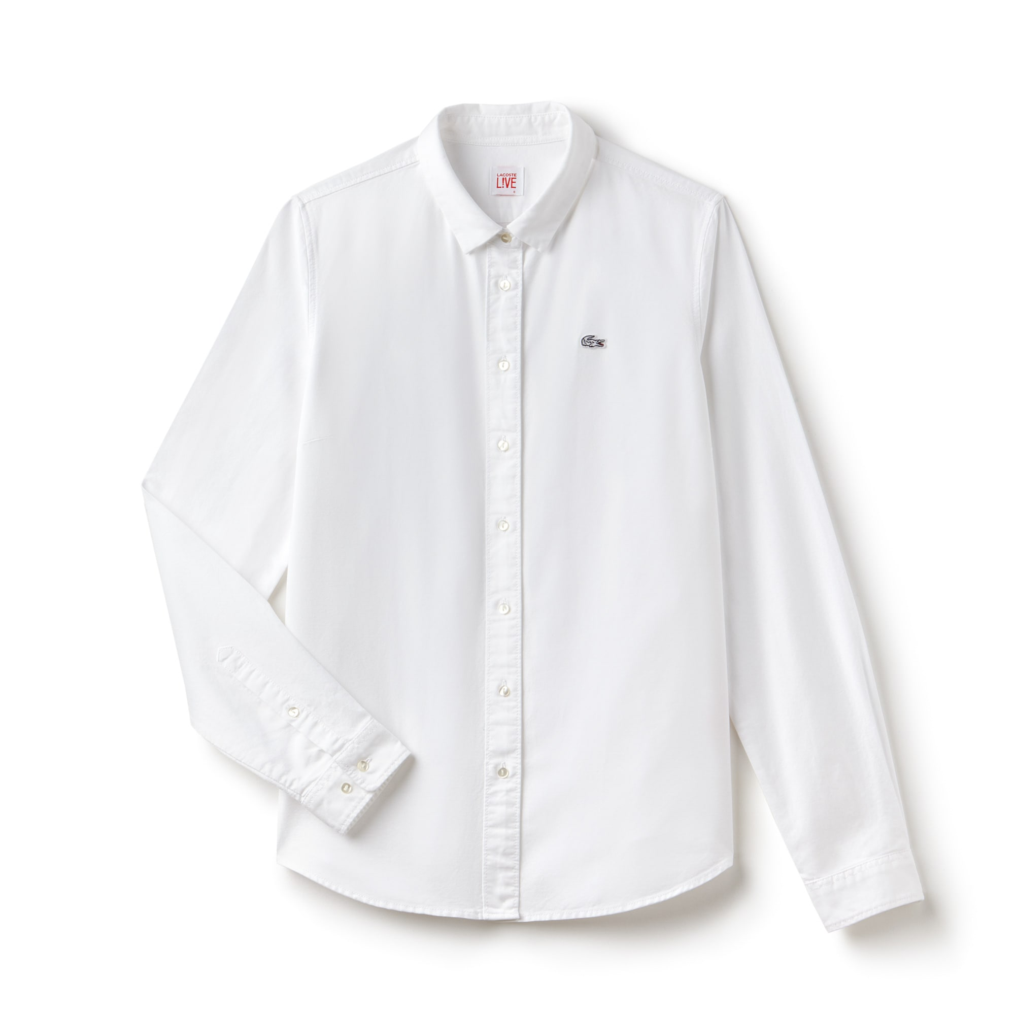 Lacoste LIVE-shirt dames slim fit Oxfordkatoen