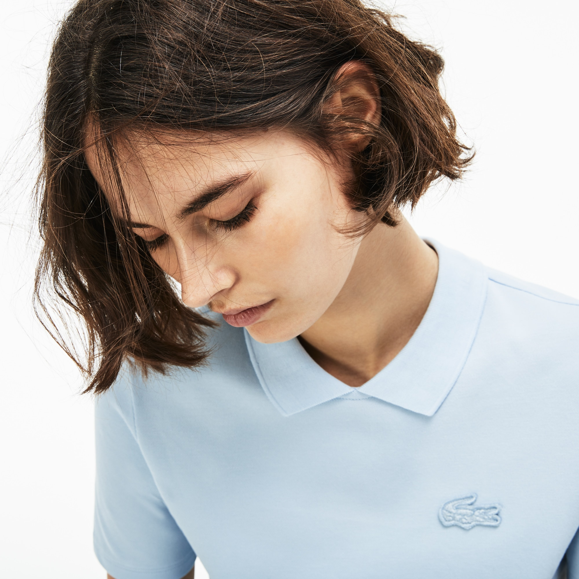 Lacoste LIVE-polo dames mini-piqué met traanopening
