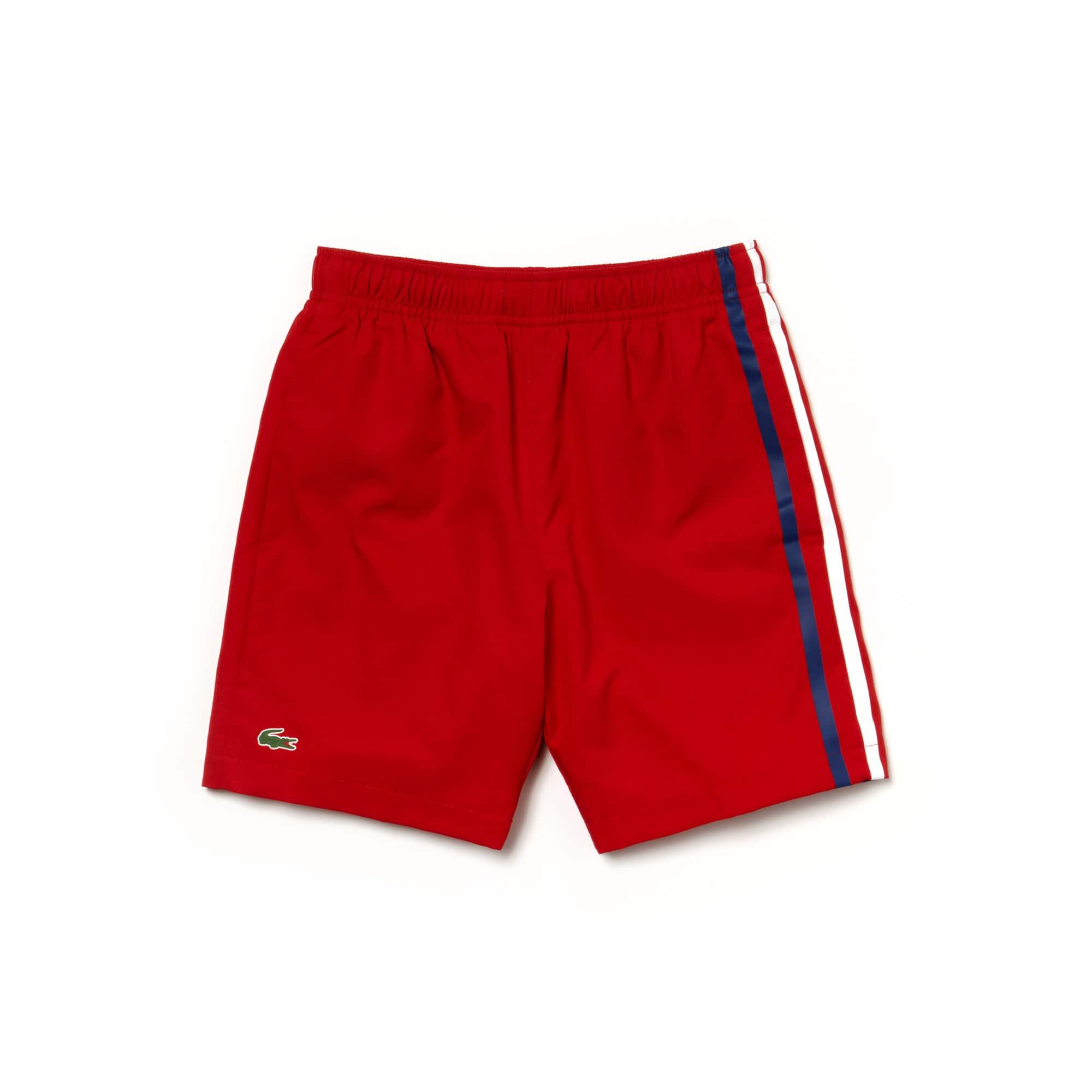 Lacoste SPORT Tennis-short jongens taf met gekleurde strepen