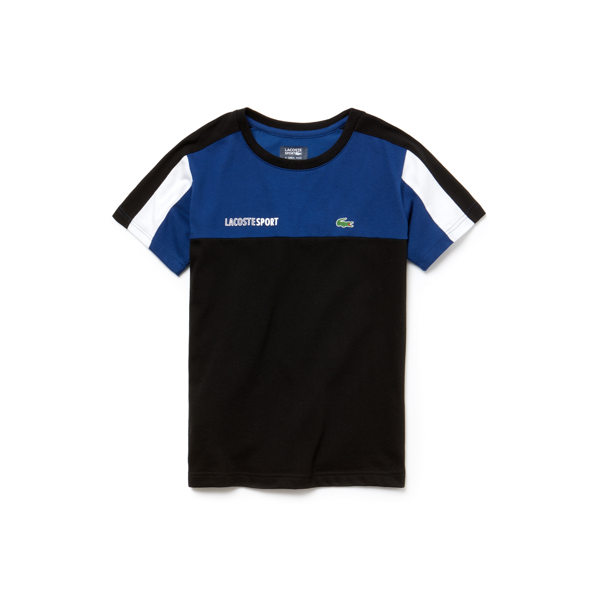 Lacoste SPORT Tennis-T-shirt jongens jersey met ronde hals en colorblock