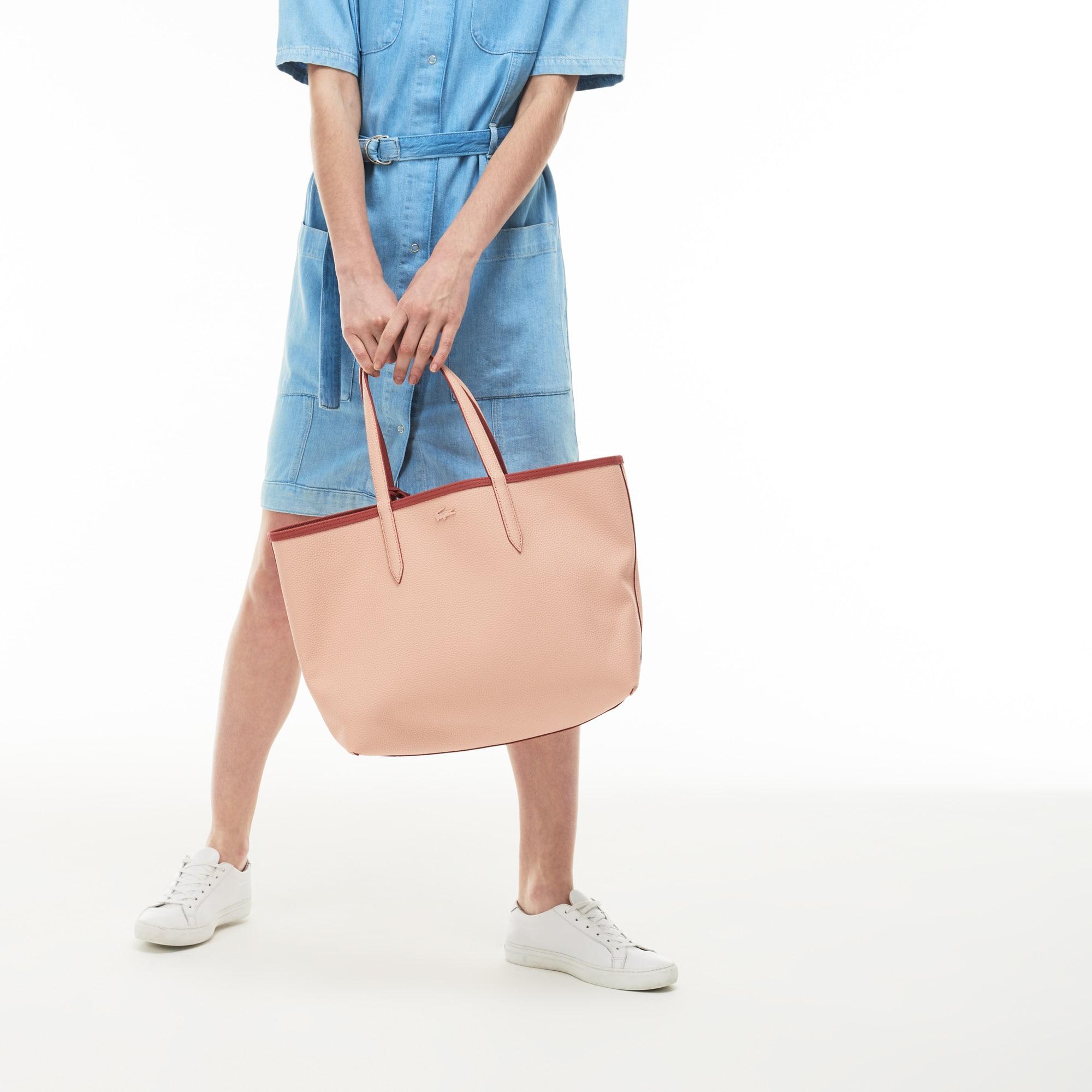 Anna-shopper dames omkeerbaar tweekleurig