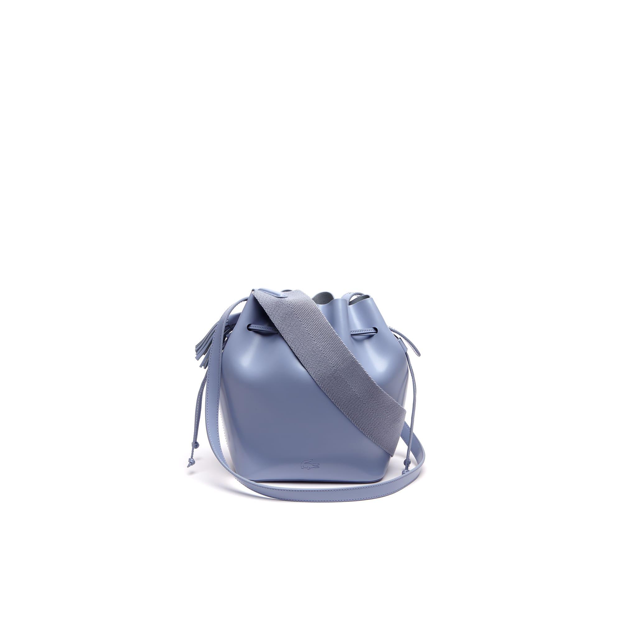 Street Live bucketbag van gecoat leer
