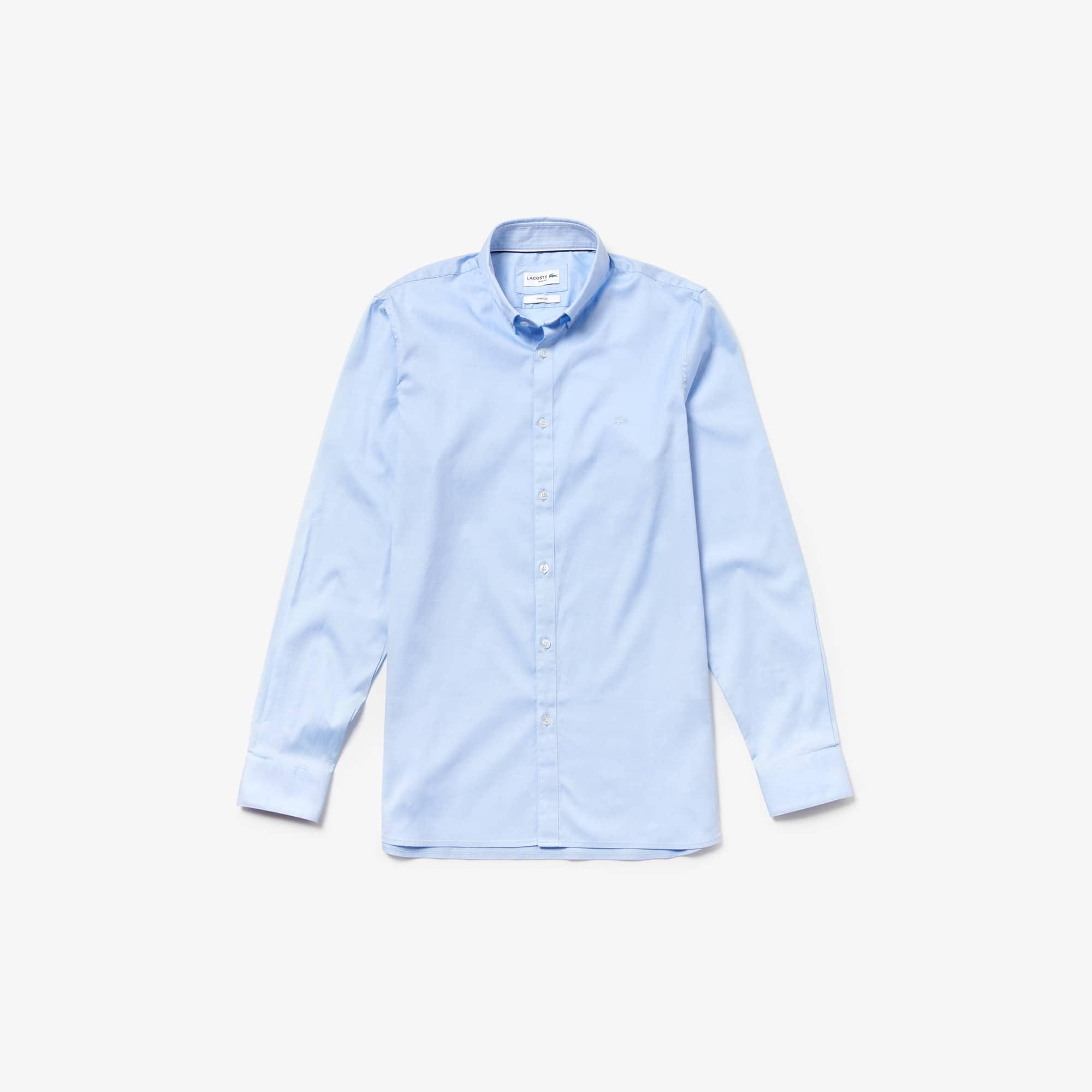 Shirt heren Slim Fit stretch pinpointkatoen