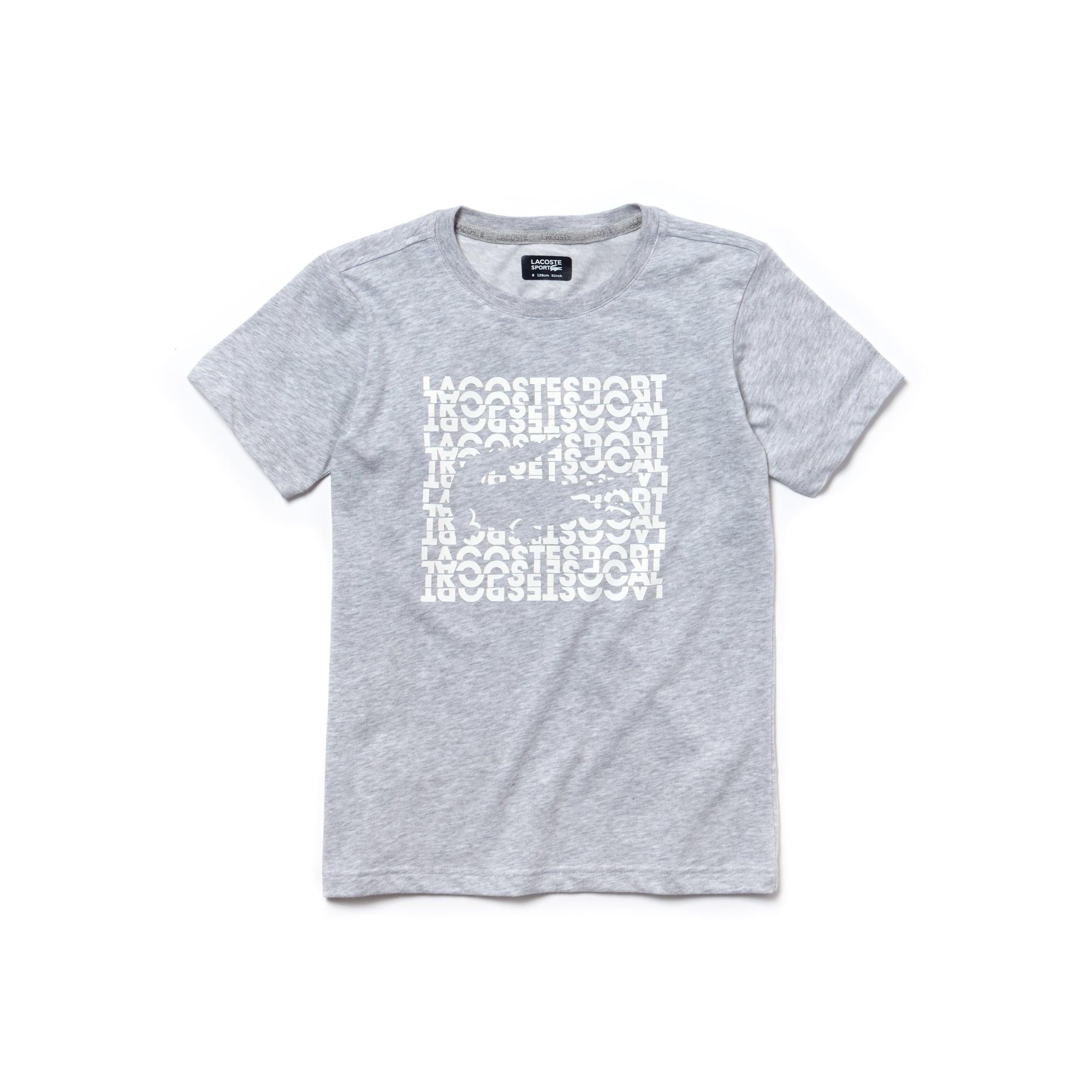 Lacoste SPORT Tennis-shirt jongens technische jersey met letters