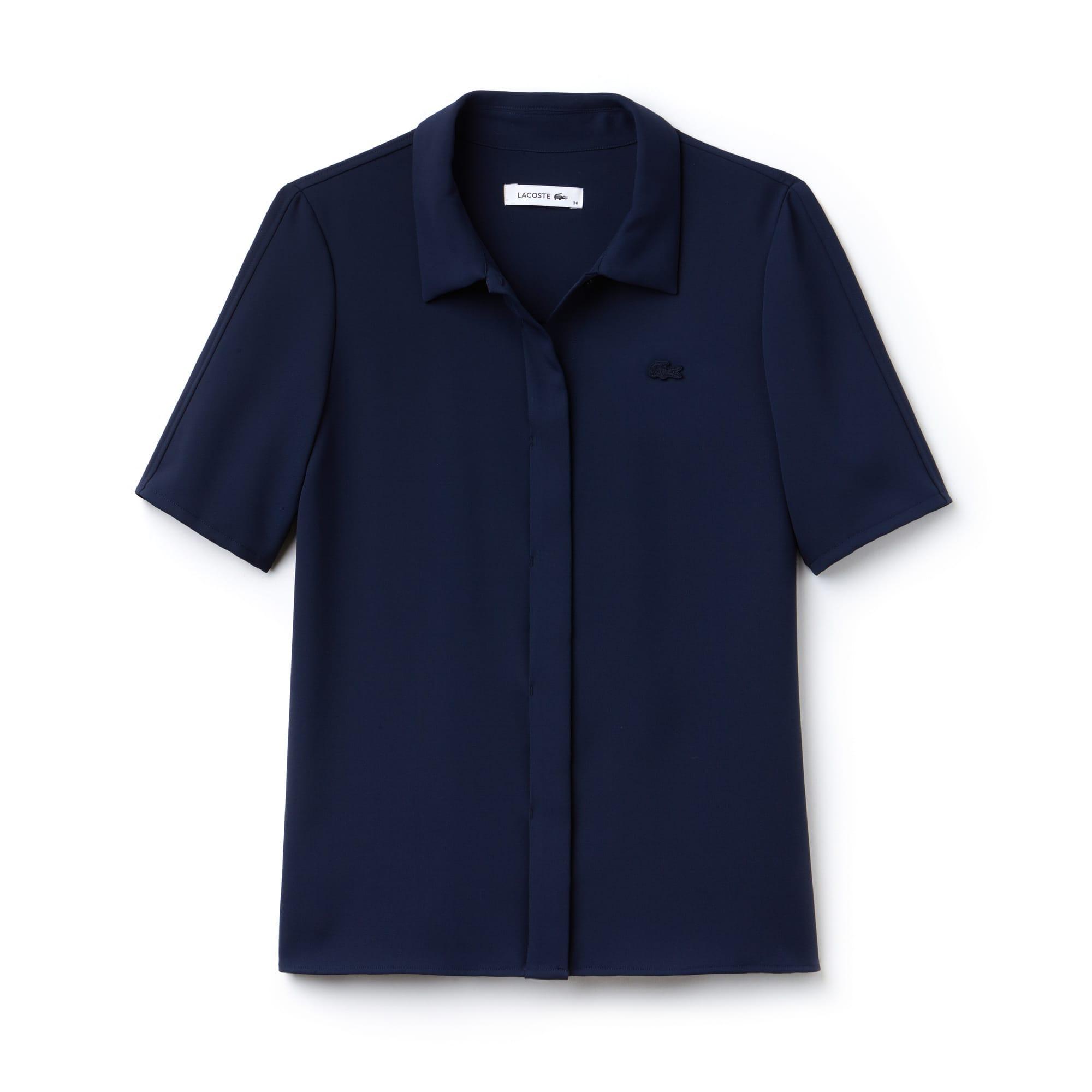 Shirt dames Regular Fit crêpe