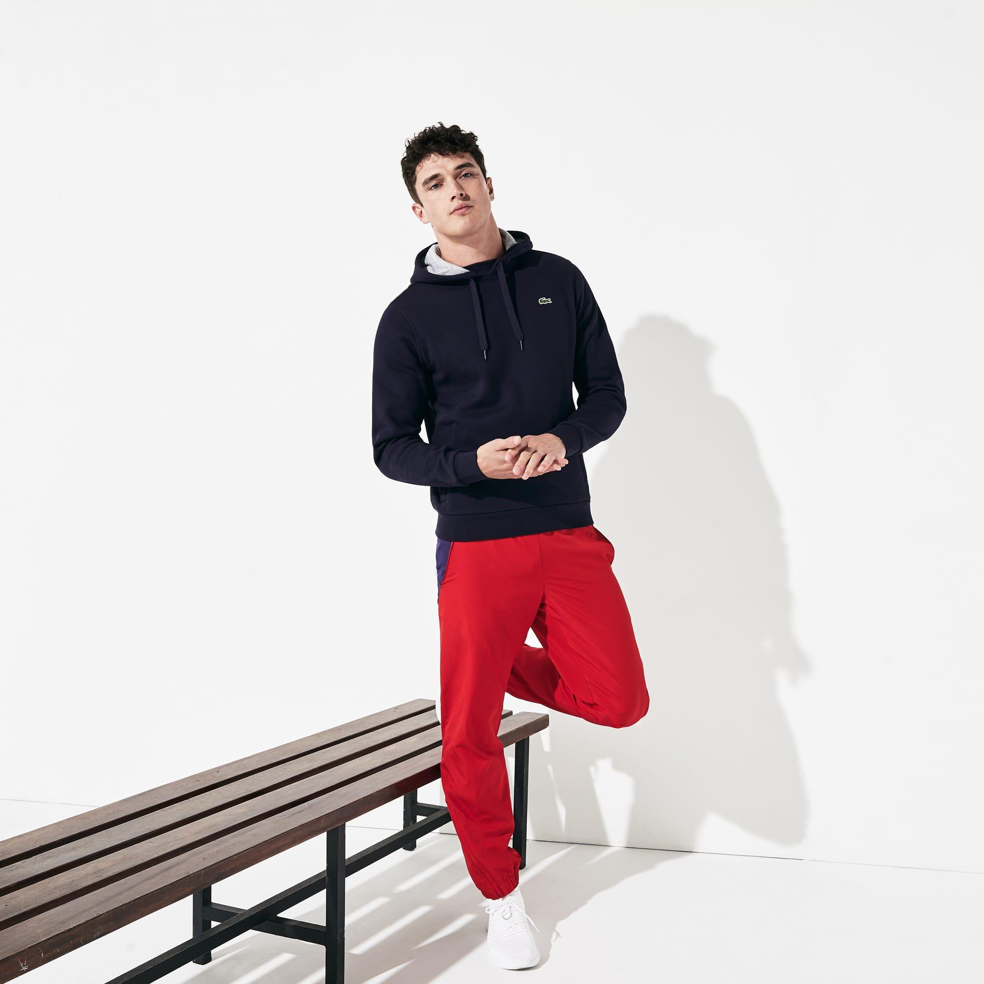 Lacoste SPORT tennissweater van molton met capuchon