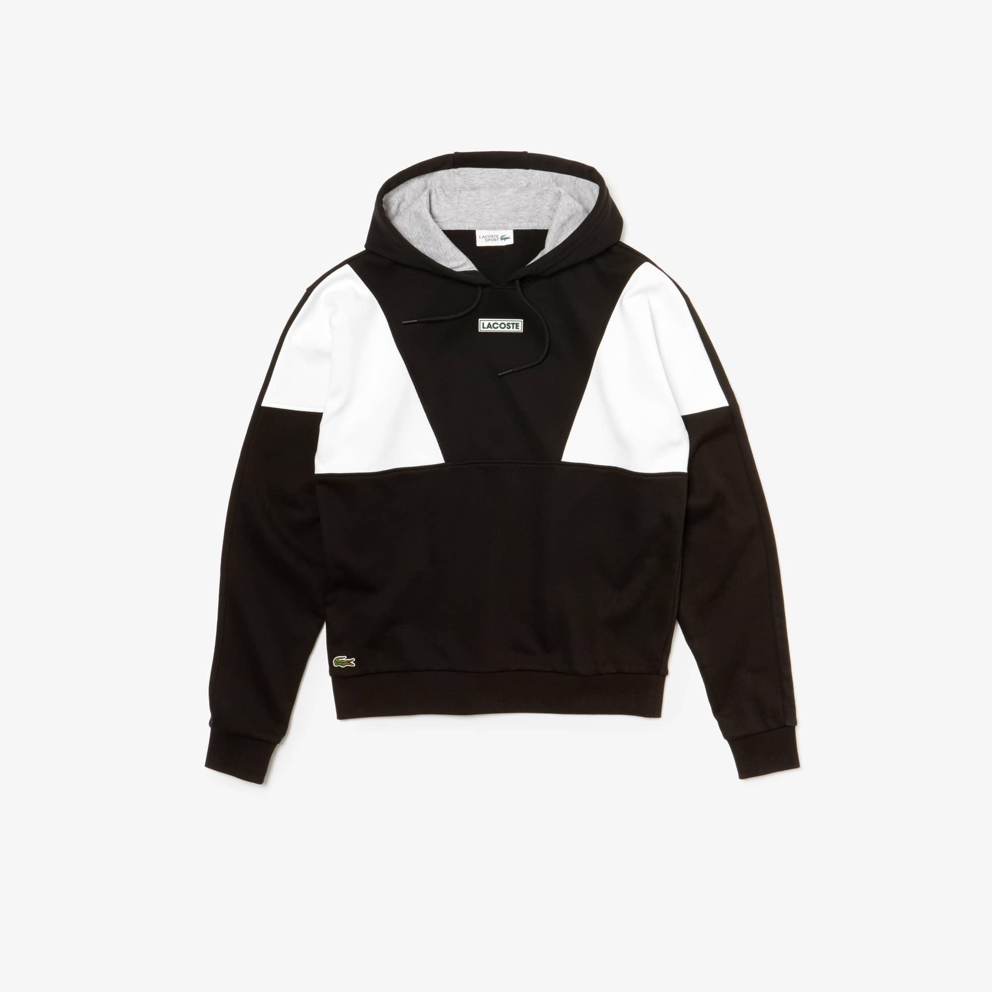Lacoste SPORT-sweatshirt heren fleece met capuchon en colorblock
