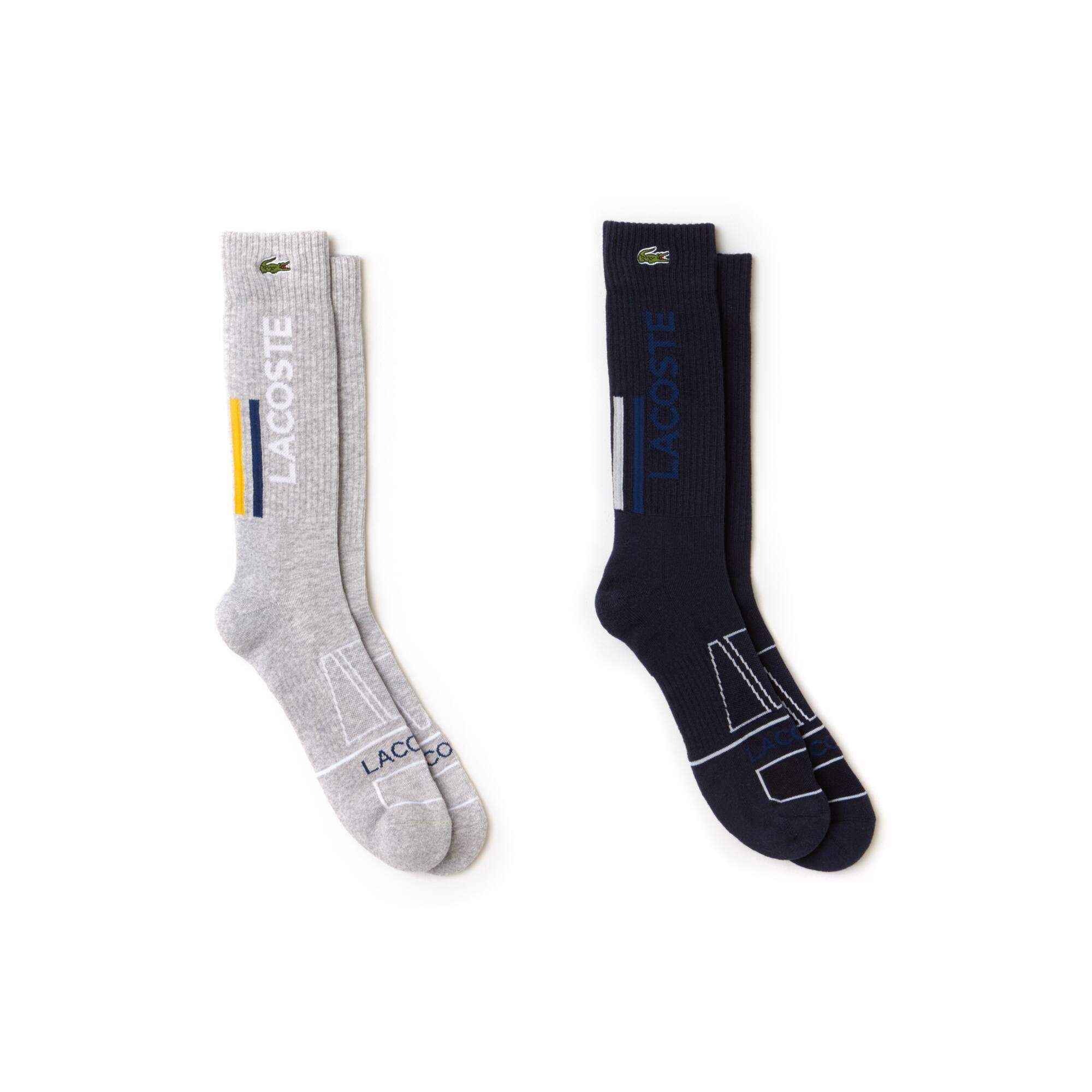Lacoste SPORT Tennis-sokken heren jersey met stretch en letters