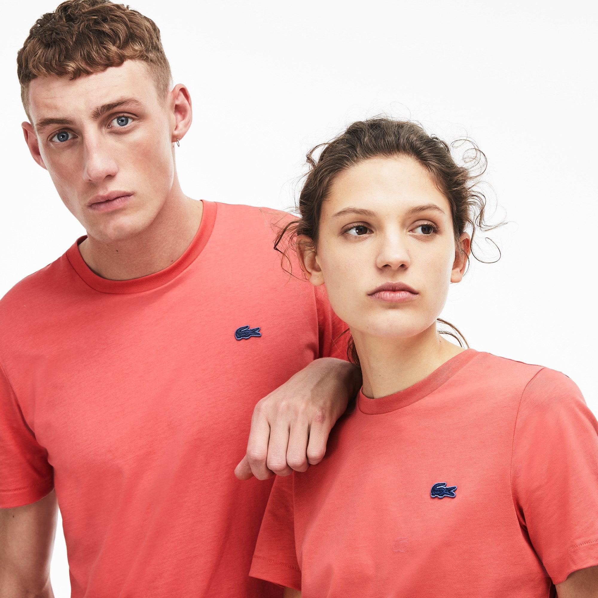 Lacoste LIVE-T-shirt Heren Katoenjersey met Ronde Hals