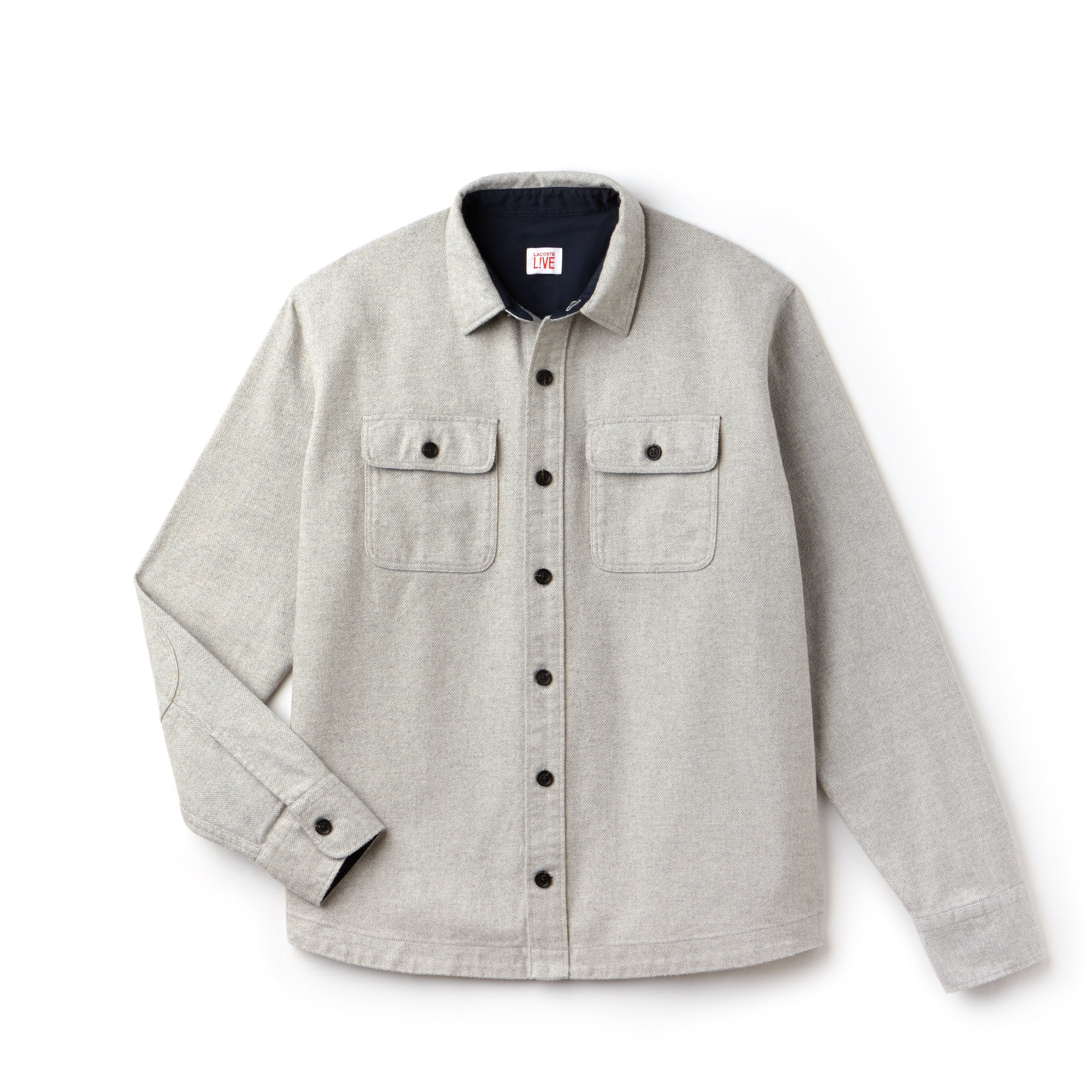 Lacoste LIVE-shirt heren boxy fit katoenflanel