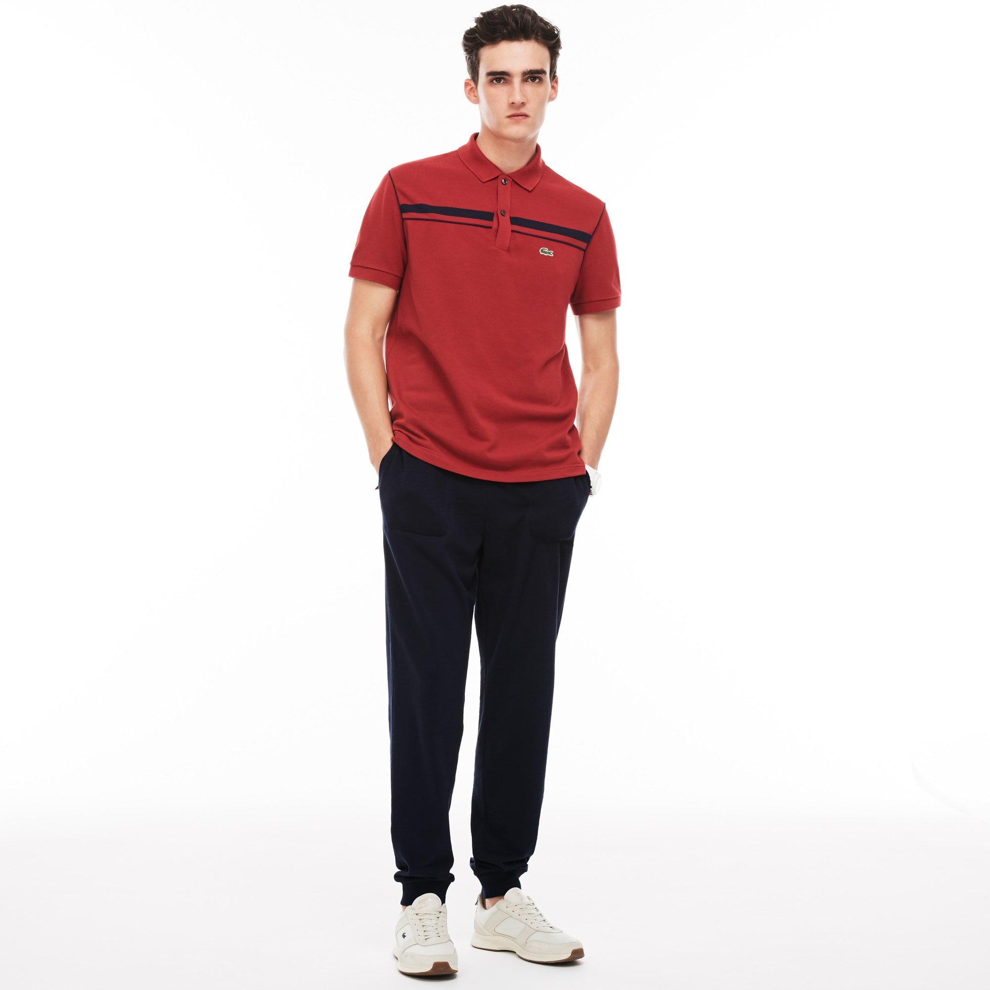 Lacoste MOTION-joggingbroek heren urban katoenfleece