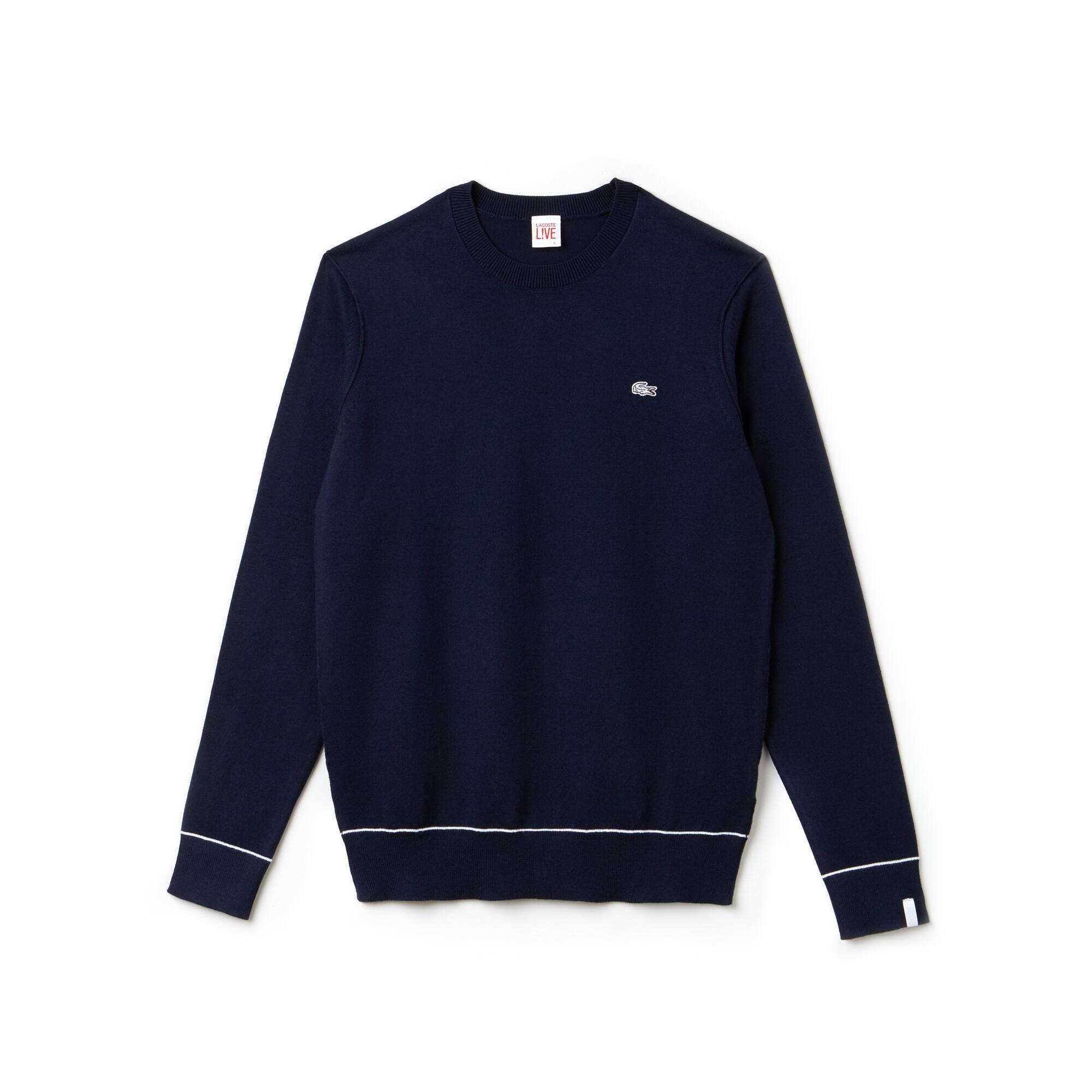 Lacoste LIVE-sweater dames ronde hals katoen en zijdejersey
