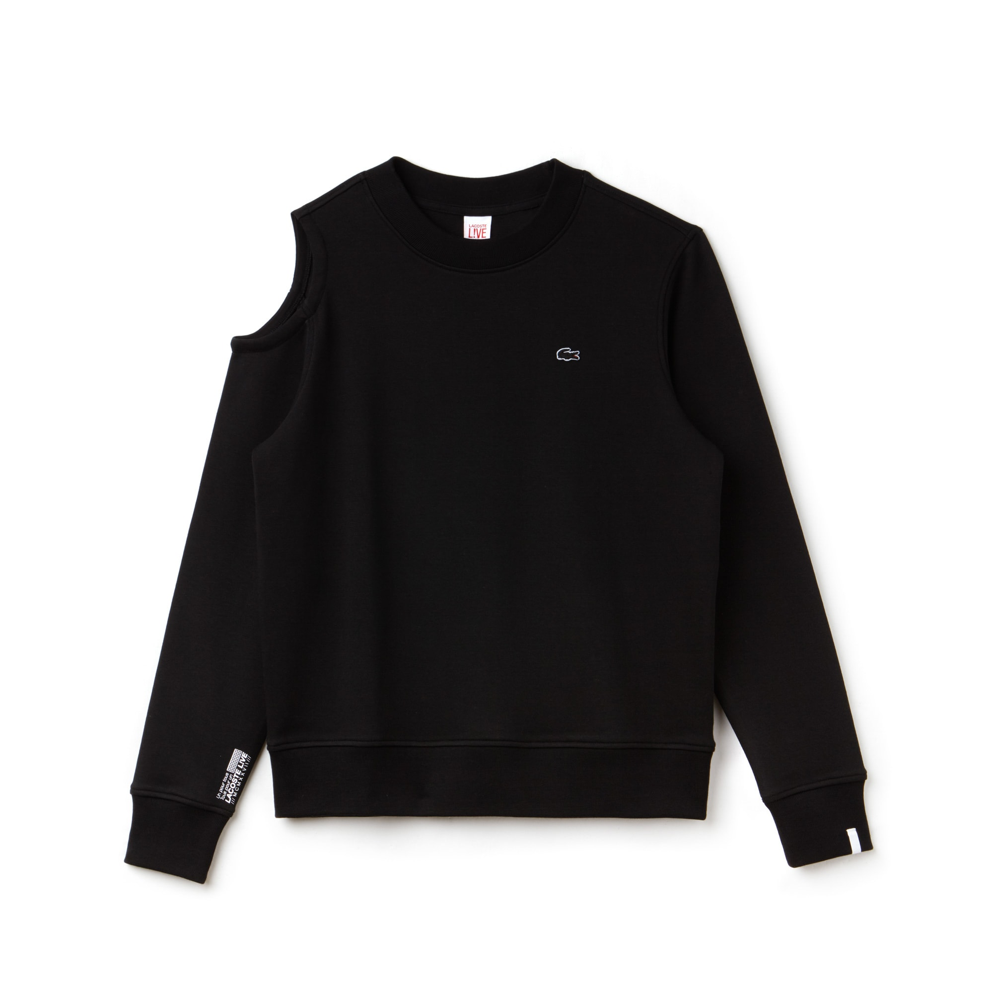 Lacoste LIVE-sweatshirt dames asymmetrisch interlock met uitsnede