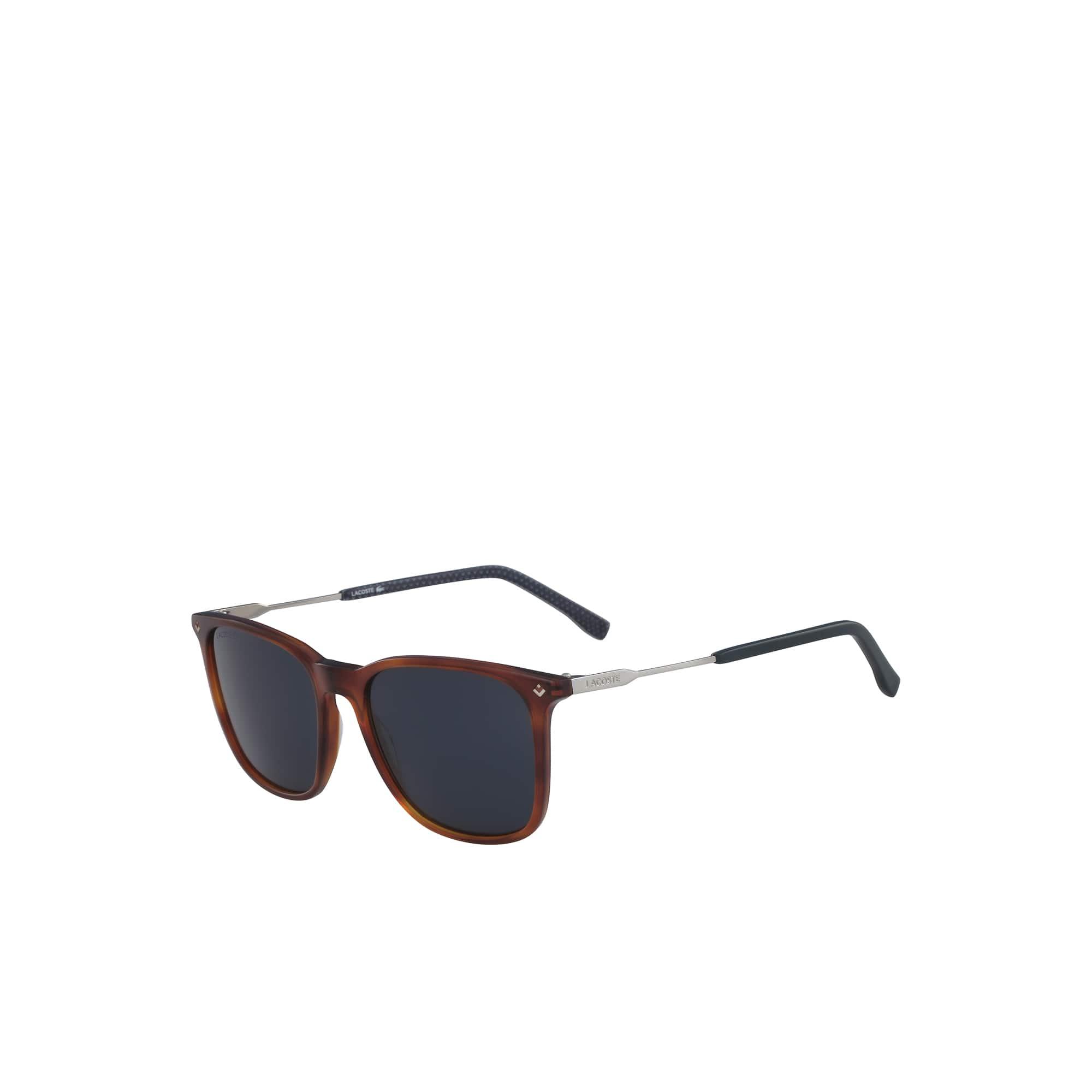 Petit piqué-zonnebril heren met acetaat-/metalen montuur